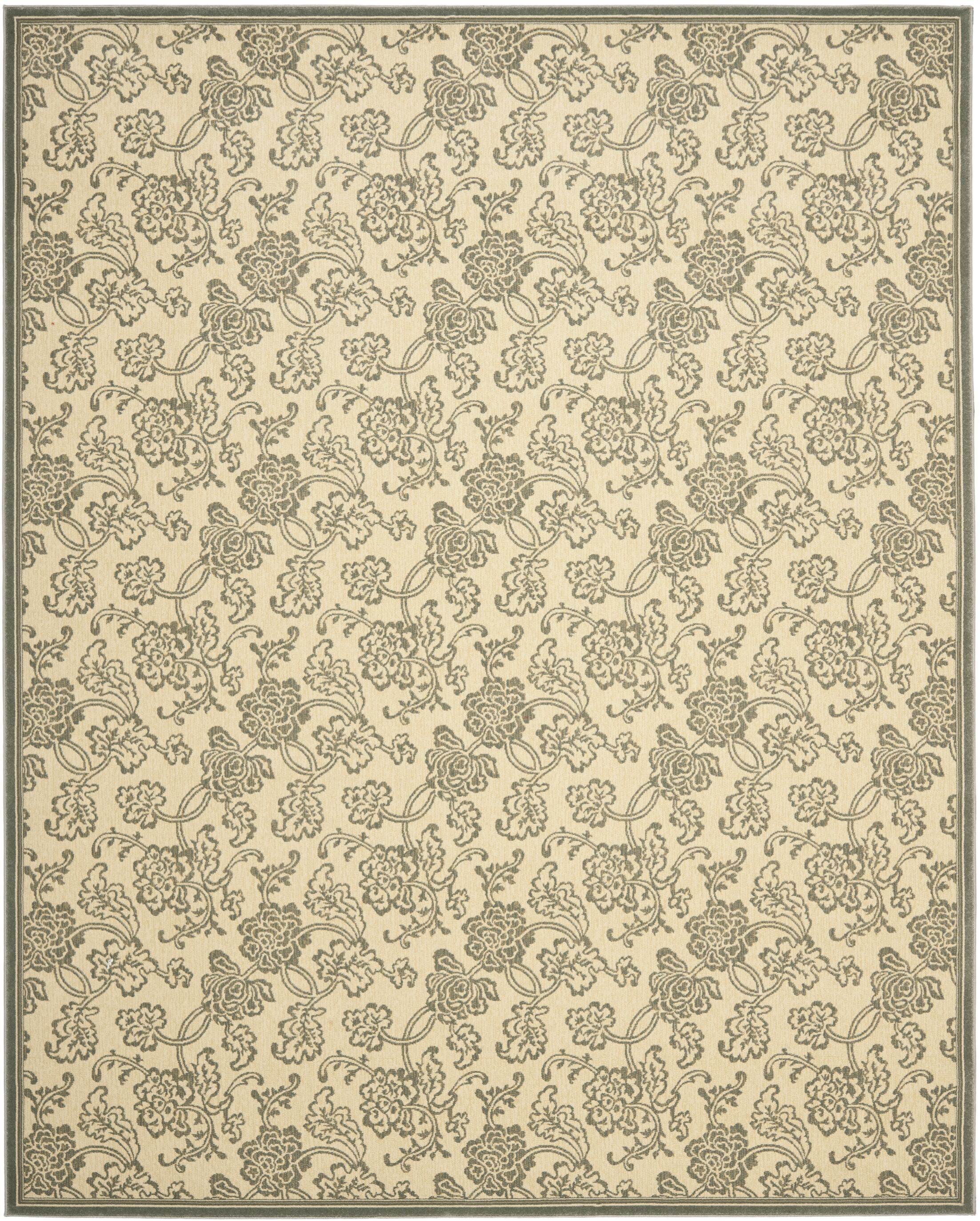 Treasures Ivory/Blue Rug Rug Size: Rectangle 4' x 6'