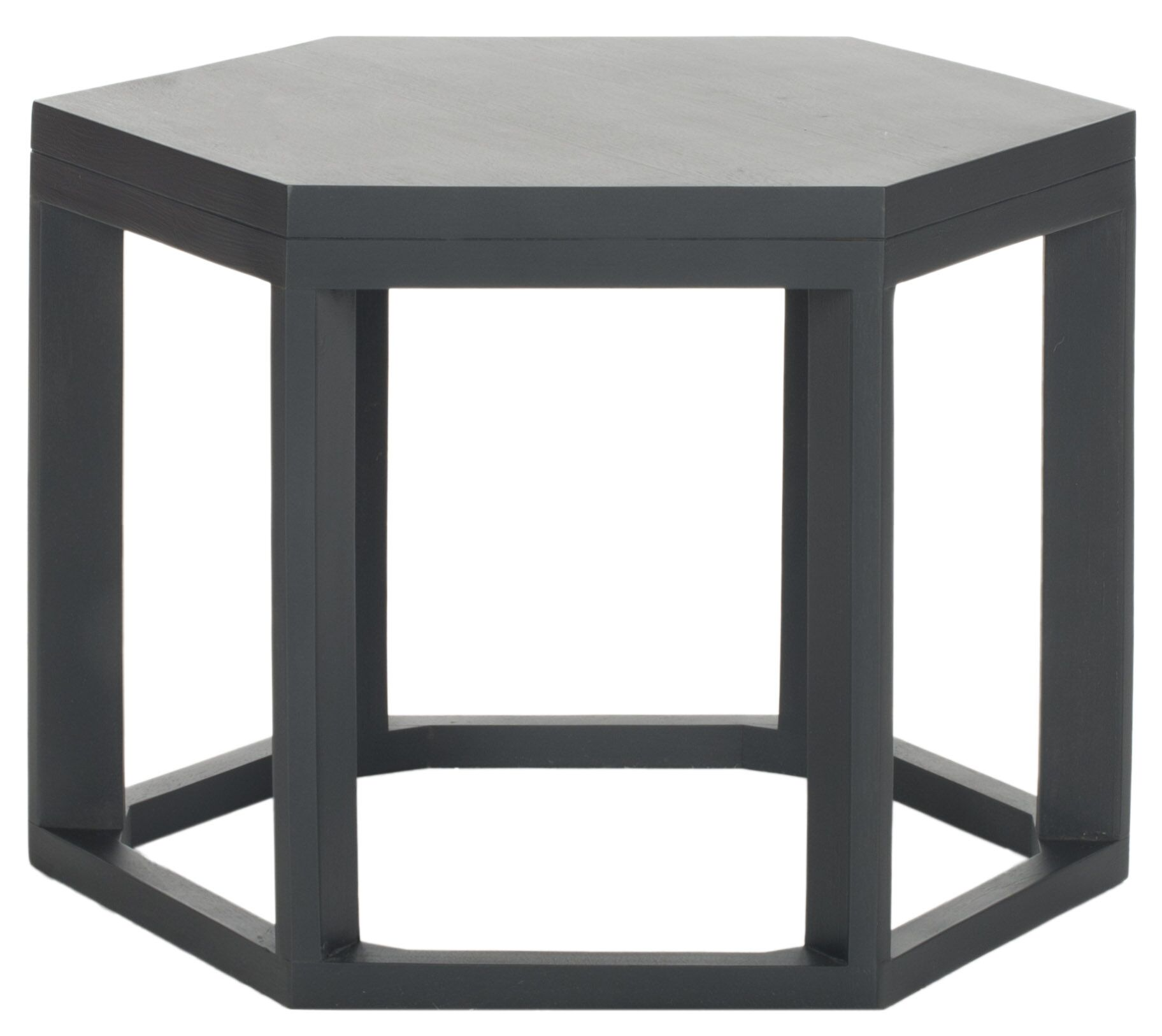 Heidi End Table Color: Charcoal Grey