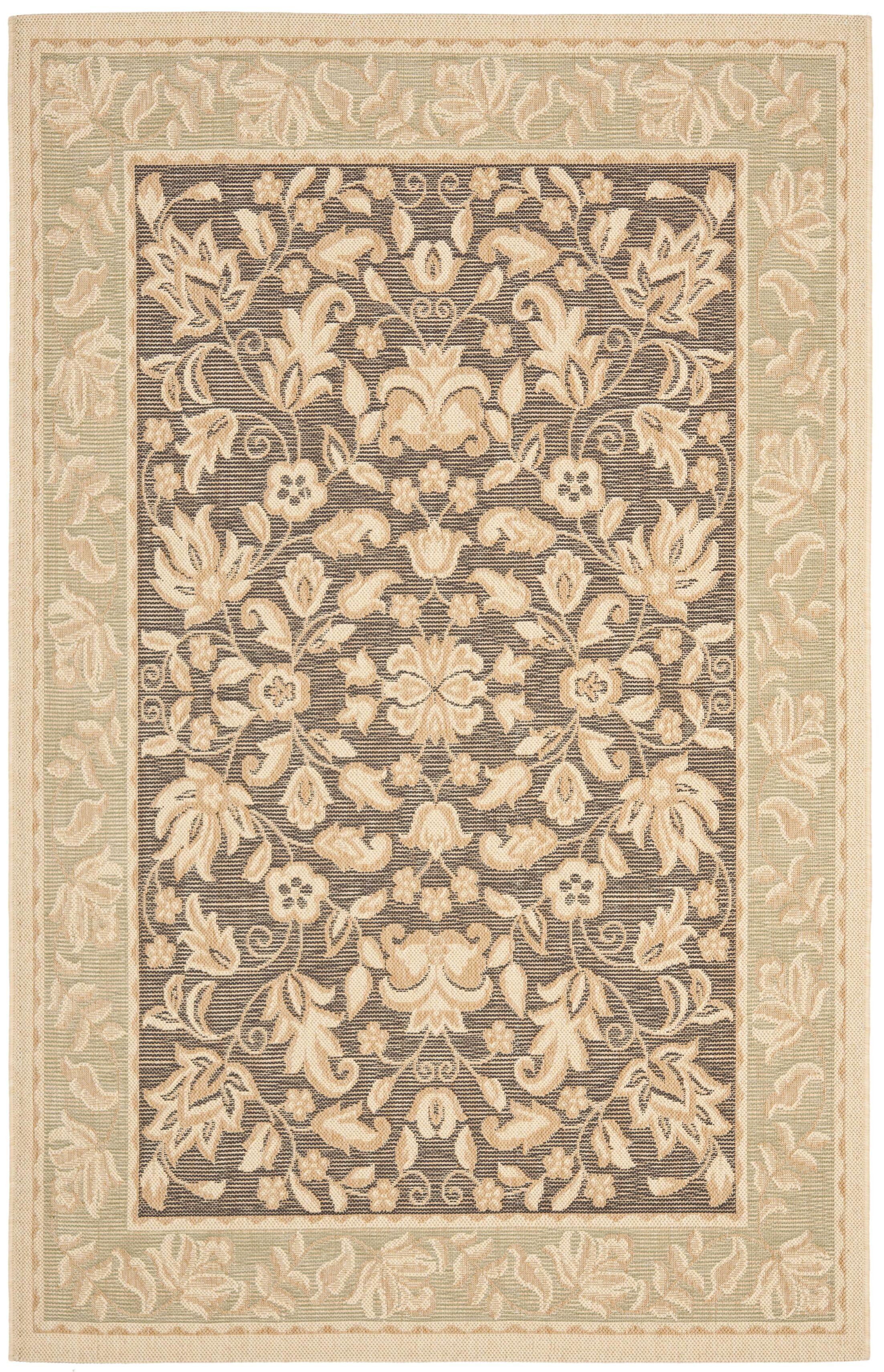 Raabe Dark Brown/Tan Indoor/Outdoor Area Rug Rug Size: Rectangle 5'3