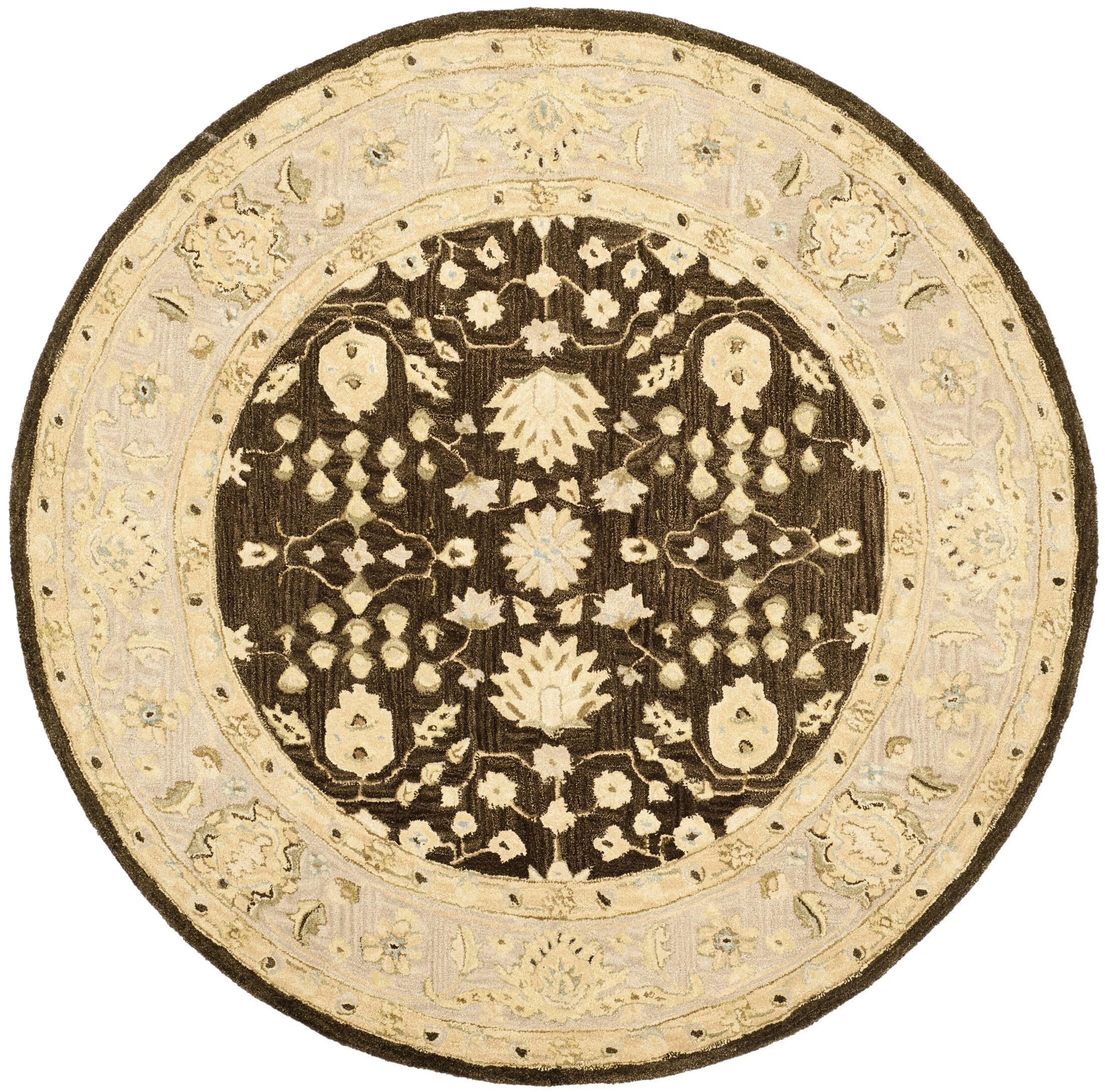 Anatolia Chocolate/Ivory Area Rug Rug Size: Rectangle 5' x 8'
