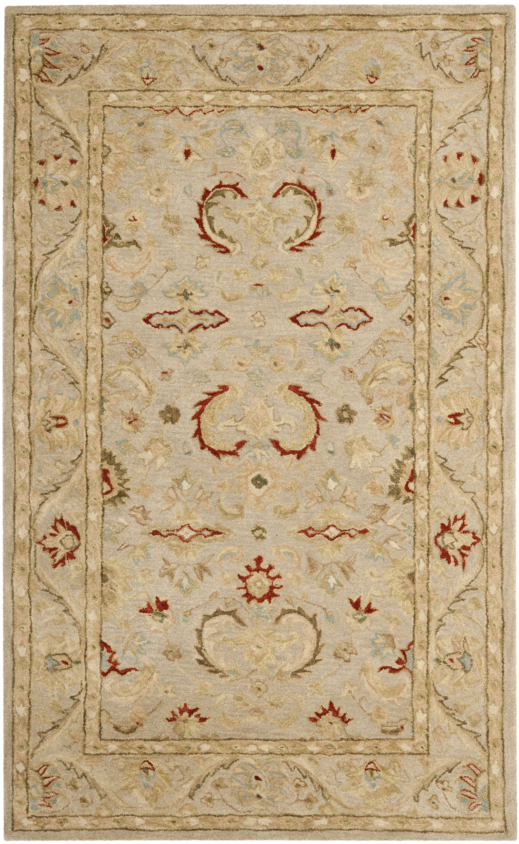 Anatolia Beige Area Rug Rug Size: Rectangle 4' x 6'