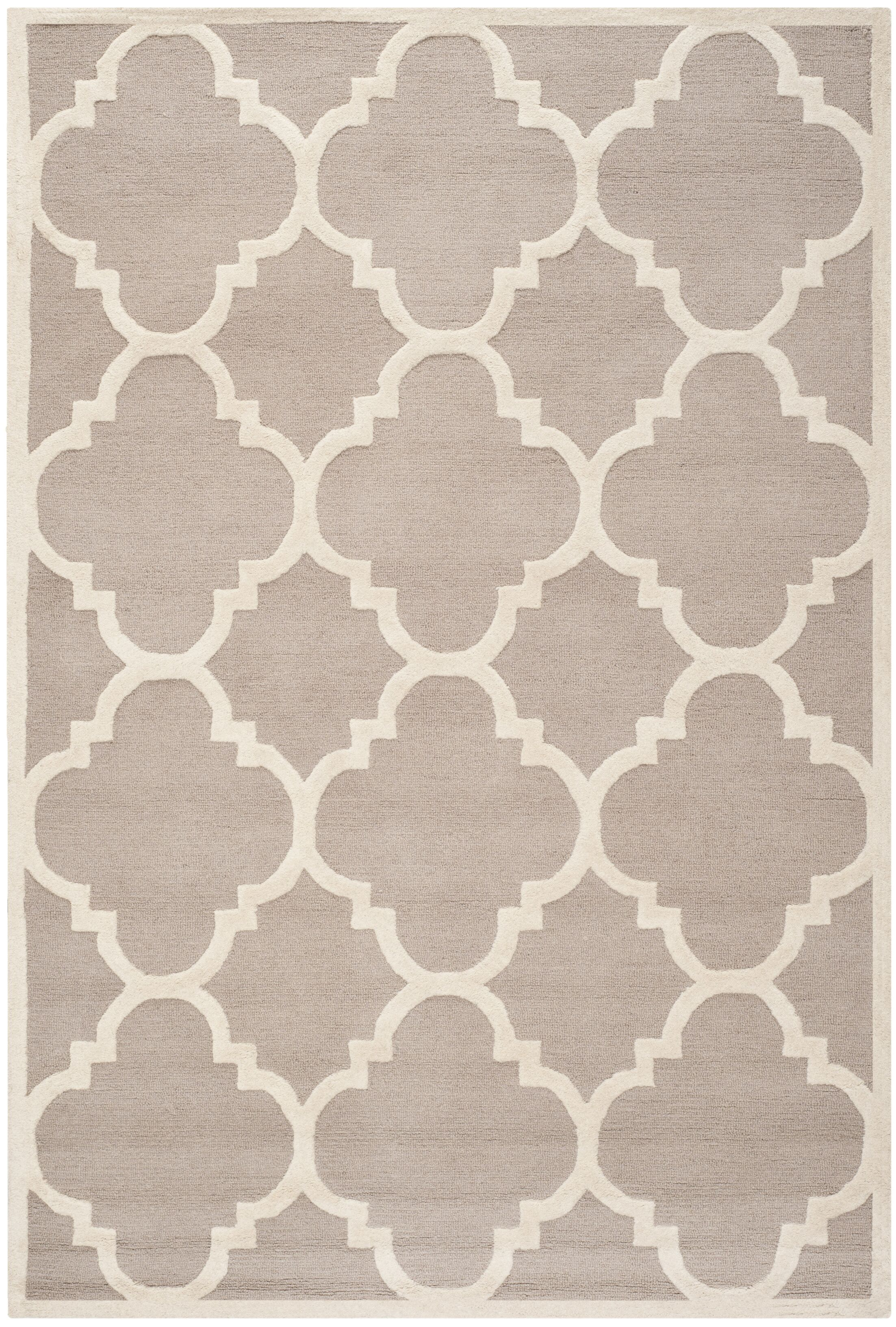 Charlenne Beige/Ivory Area Rug Rug Size: Rectangle 6' x 9'