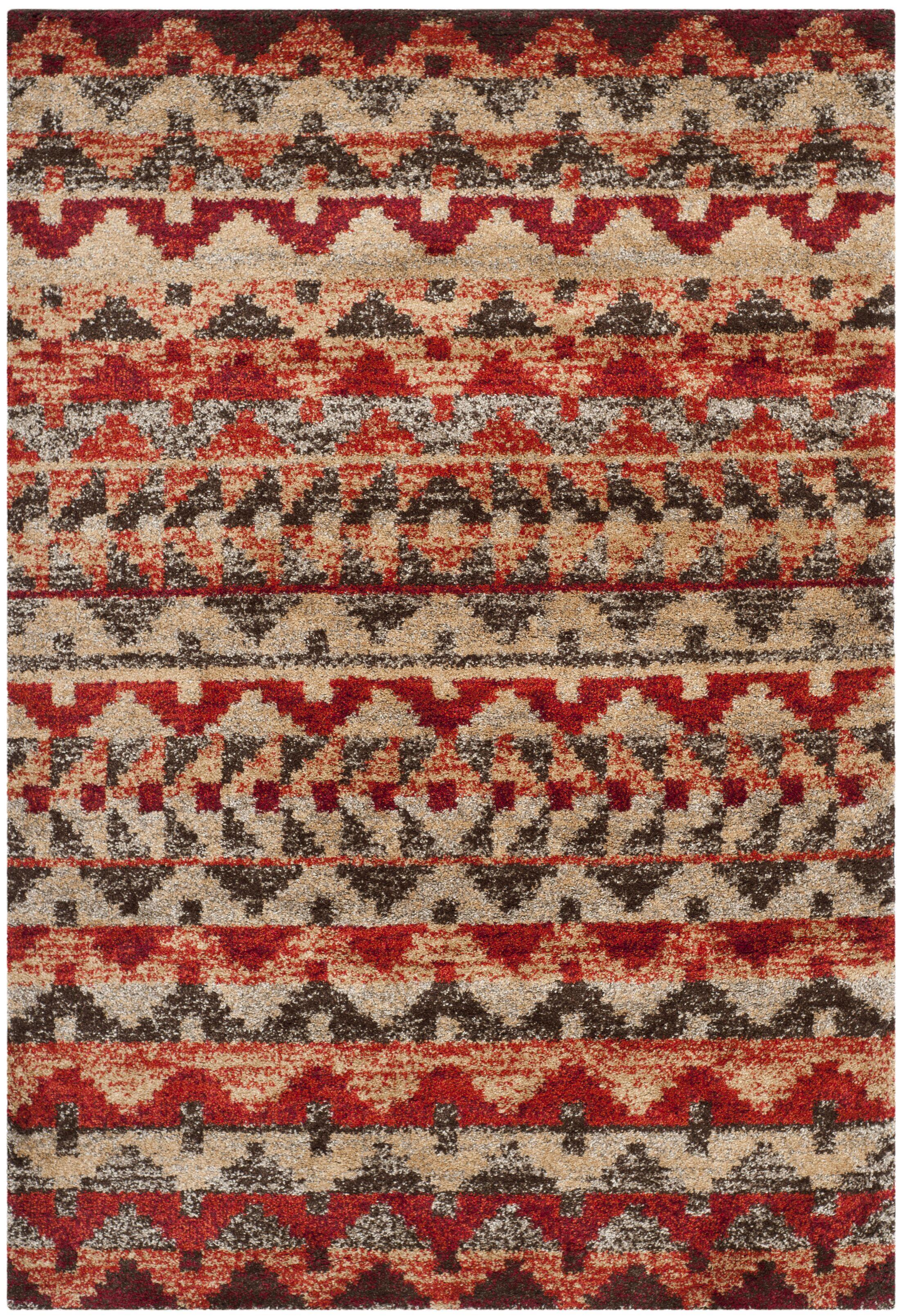Tahoe Brown / Terracotta Geometric Rug Rug Size: Rectangle 5'1