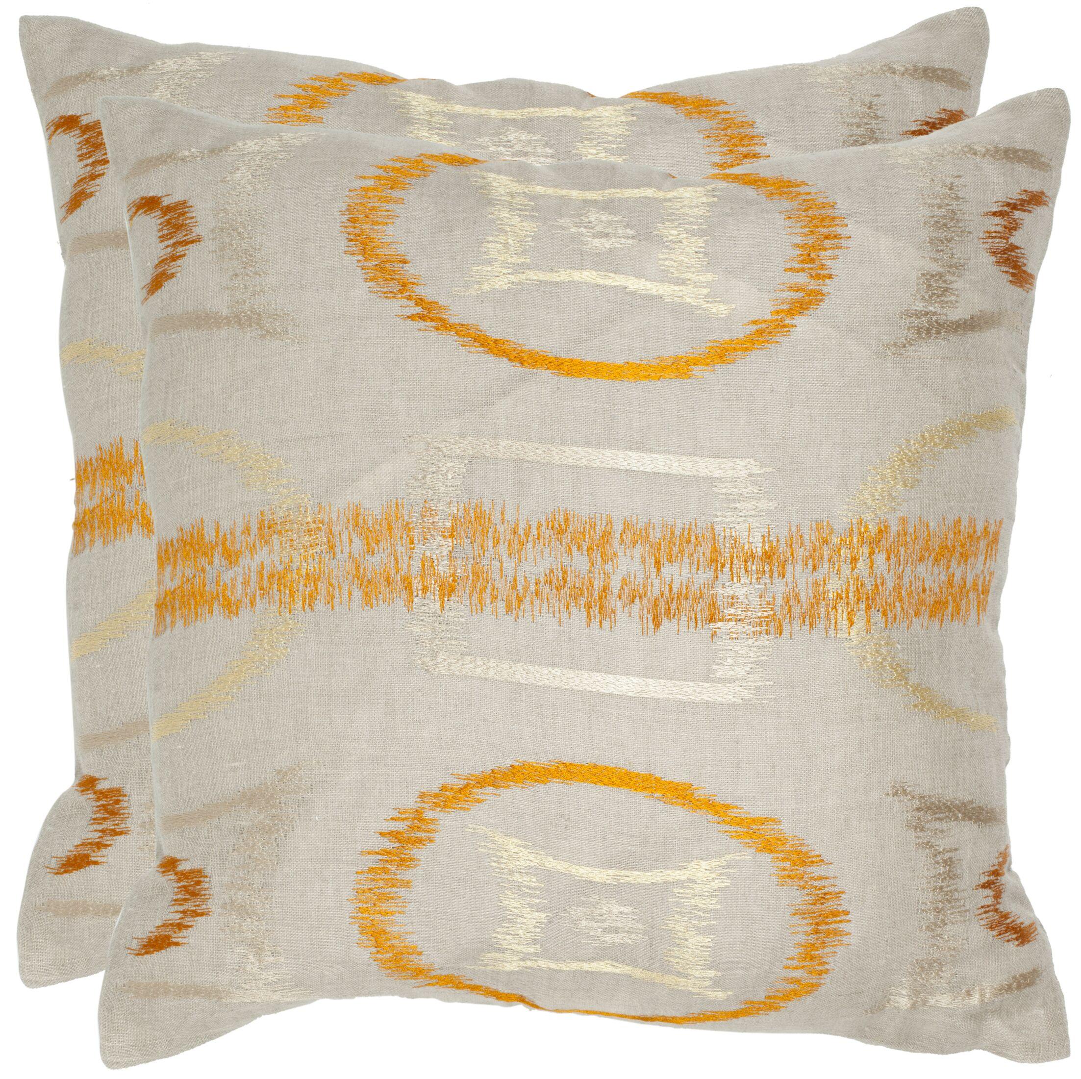 Reese Linen Throw Pillow Size: 22