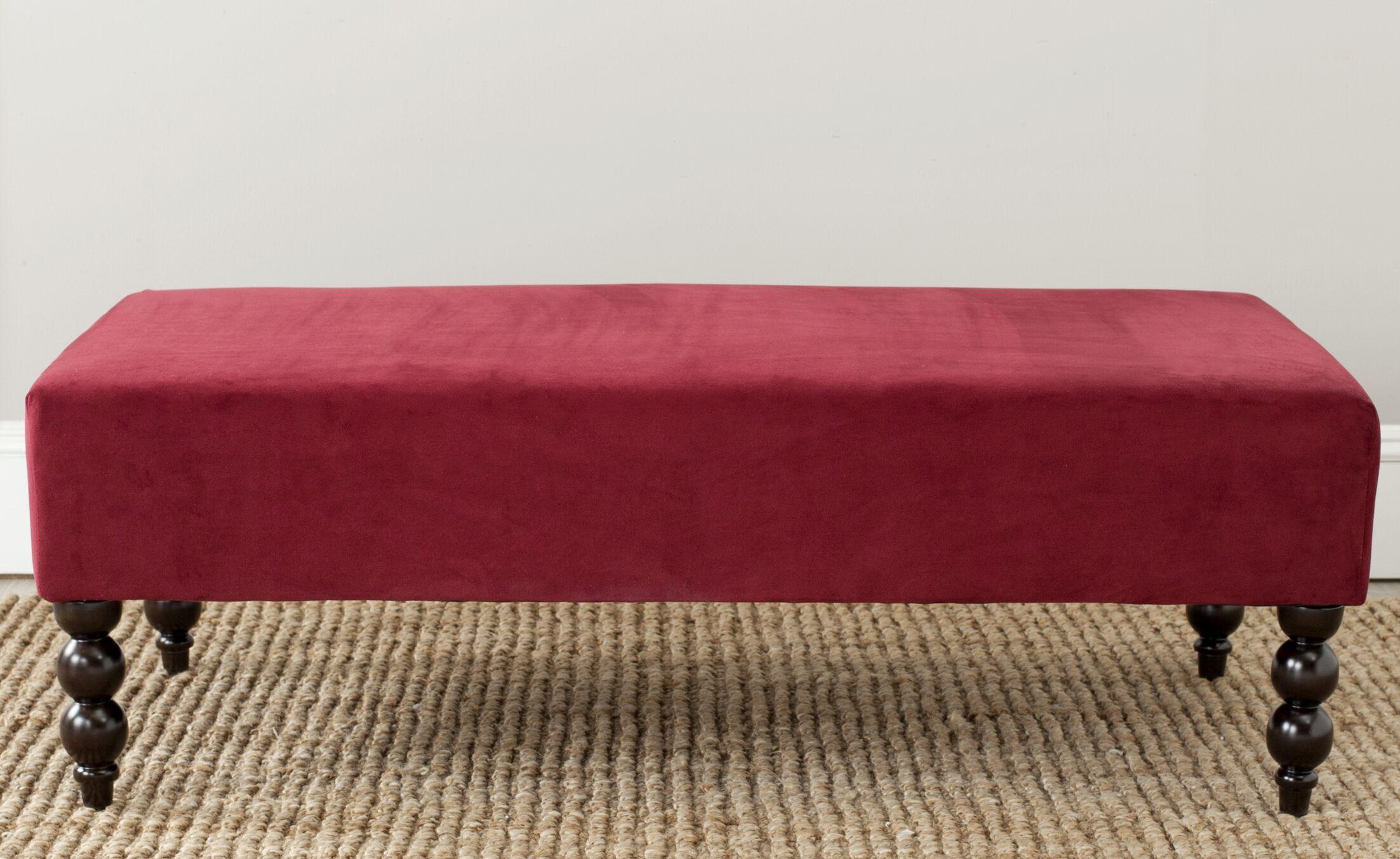 Seldon Ottoman Upholstery: Red Velvet