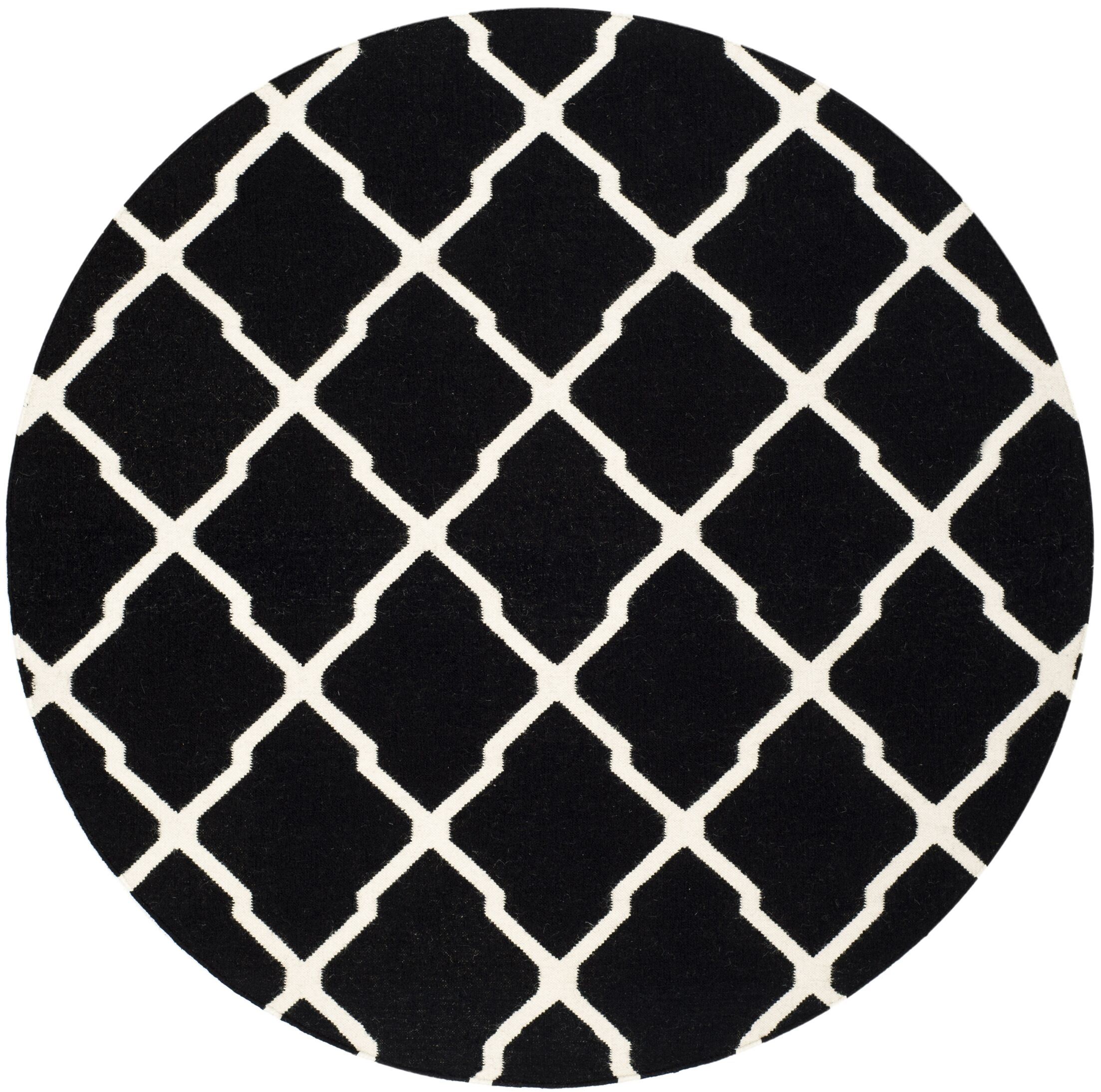 Dhurries Black/Ivory Area Rug Rug Size: Rectangle 3' x 5'