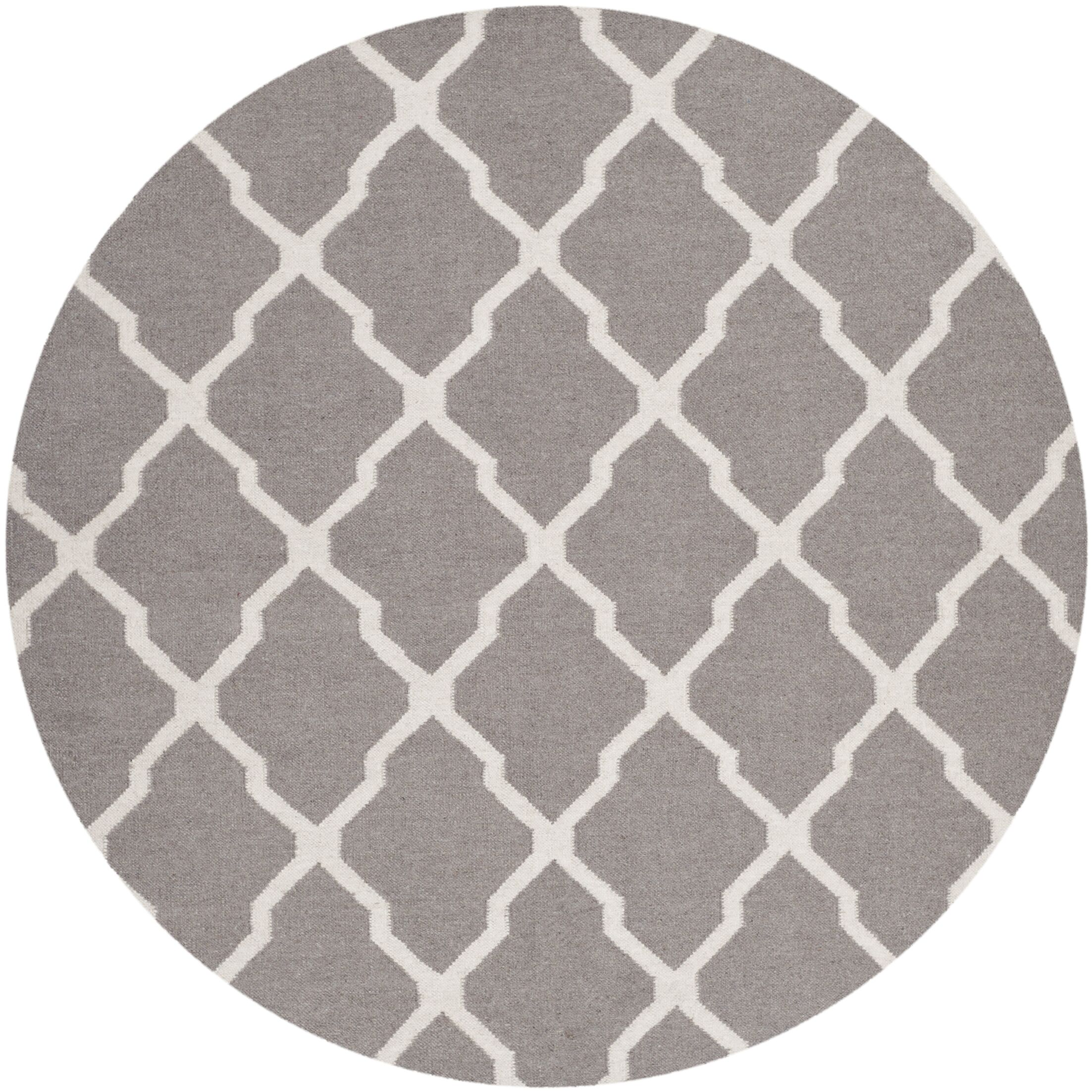 Dhurries Dark Grey/Ivory Area Rug Rug Size: Rectangle 3' x 5'