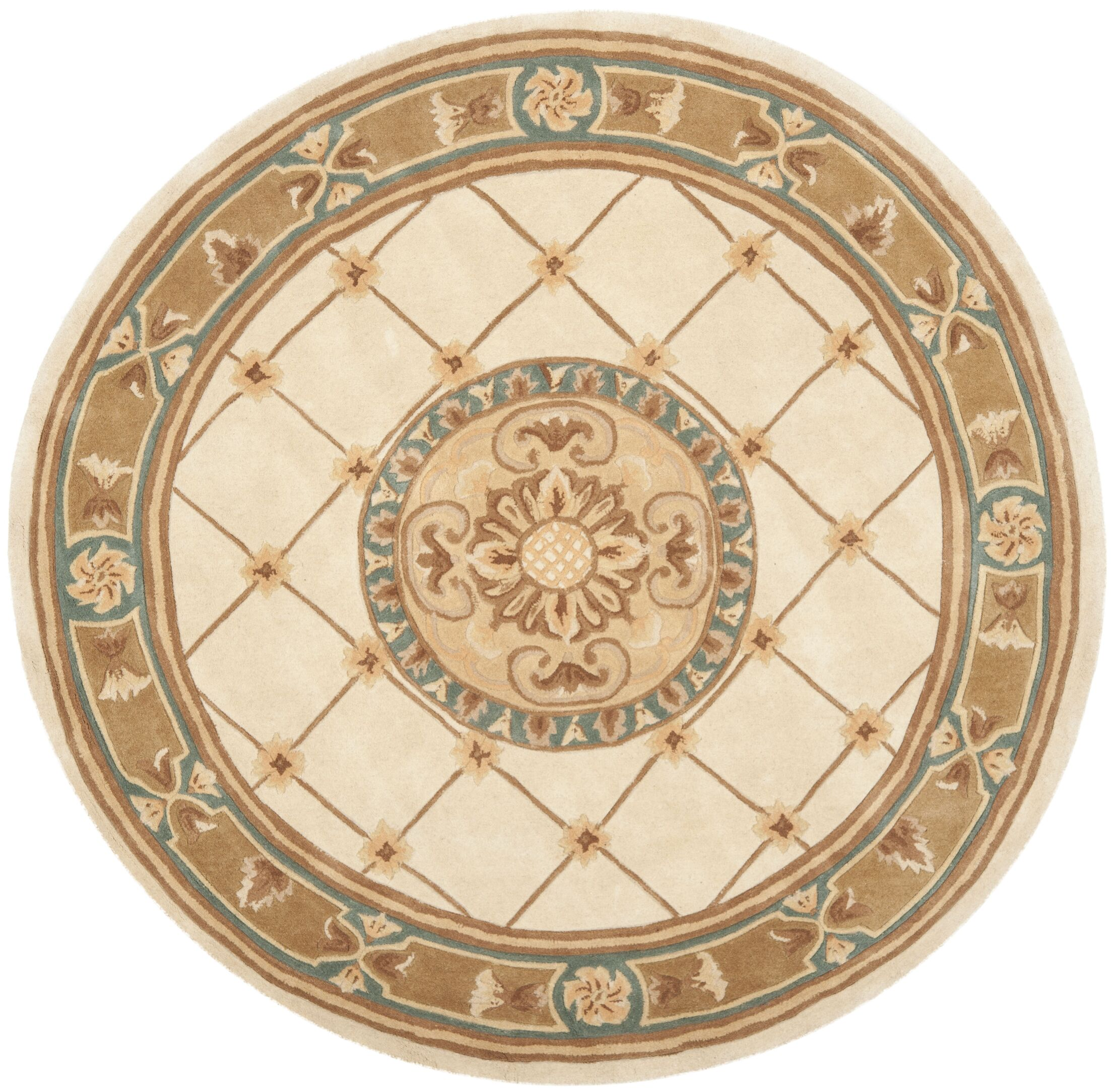 Naples Ivory/Caramel Area Rug Rug Size: Rectangle 2'6