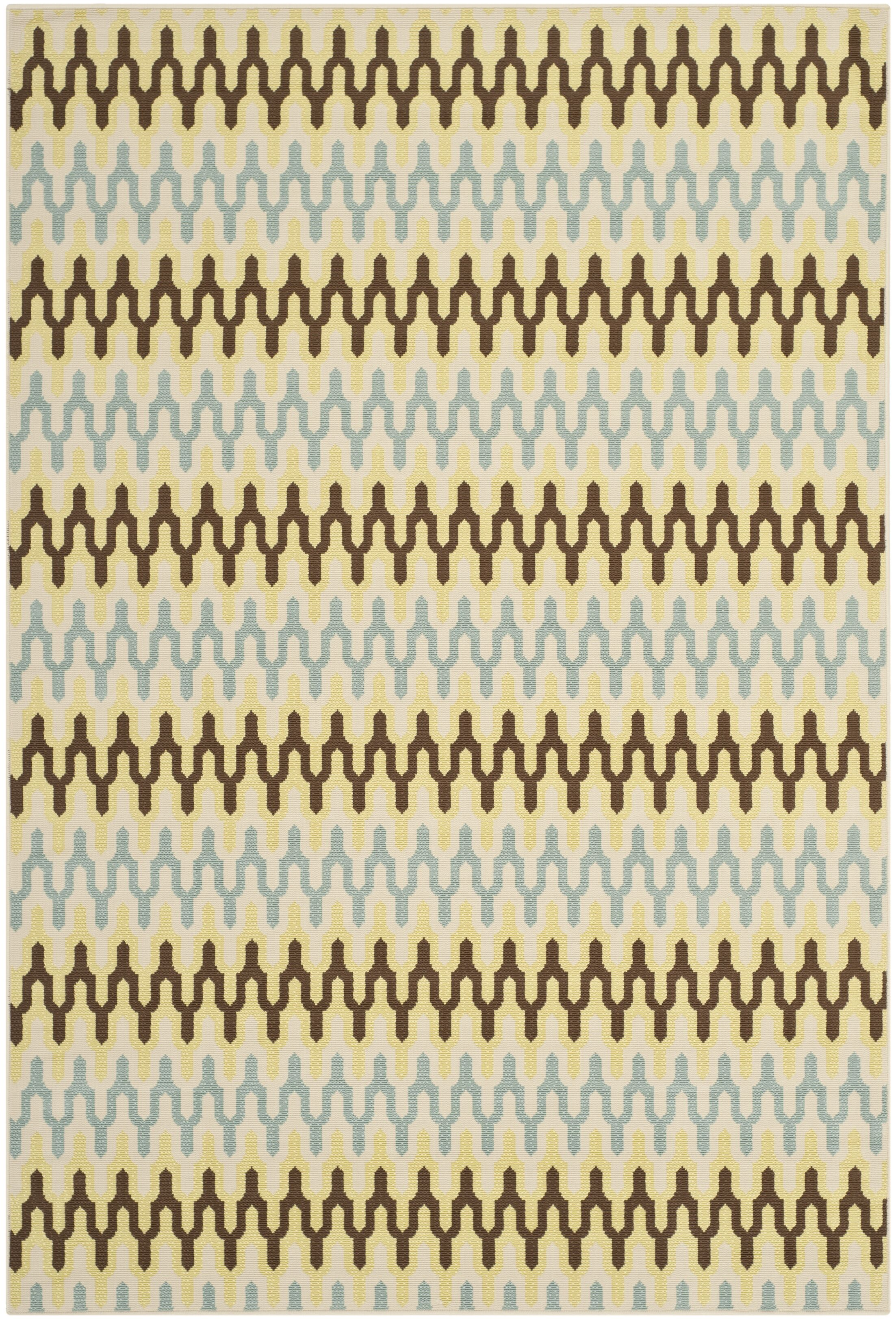 Kelston Ivory Outdoor Area Rug Rug Size: Rectangle 8' x 11'