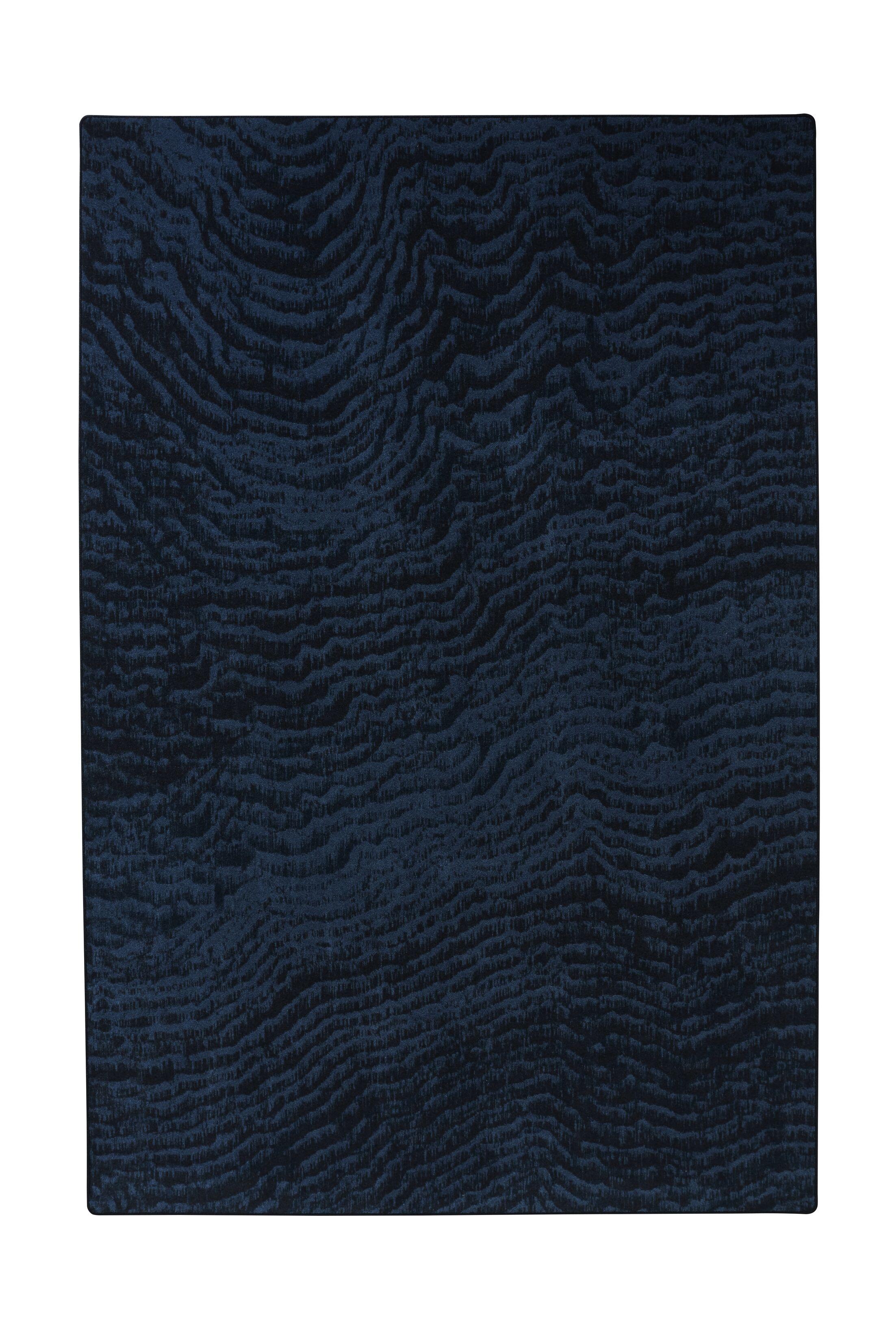Industrial Landscape Blue/Black/Gray Area Rug Rug Size: Rectangle 6'7