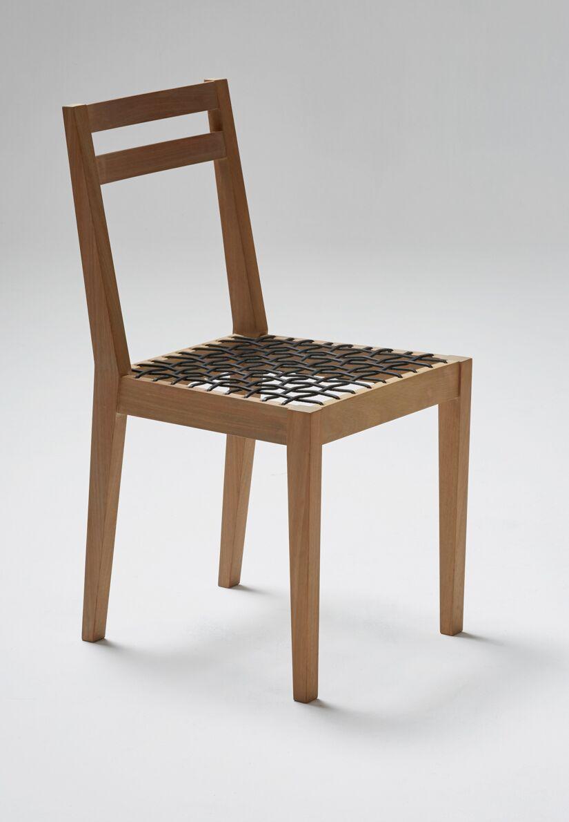 Riempie Side Chair Finish: Iroko