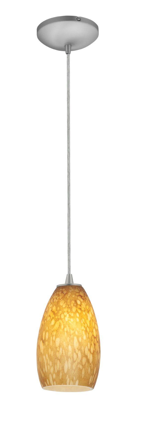 Carballo Modern 1-Light Cone Pendant Shade Color: White Stone, Finish: Oil Rubbed Bronze
