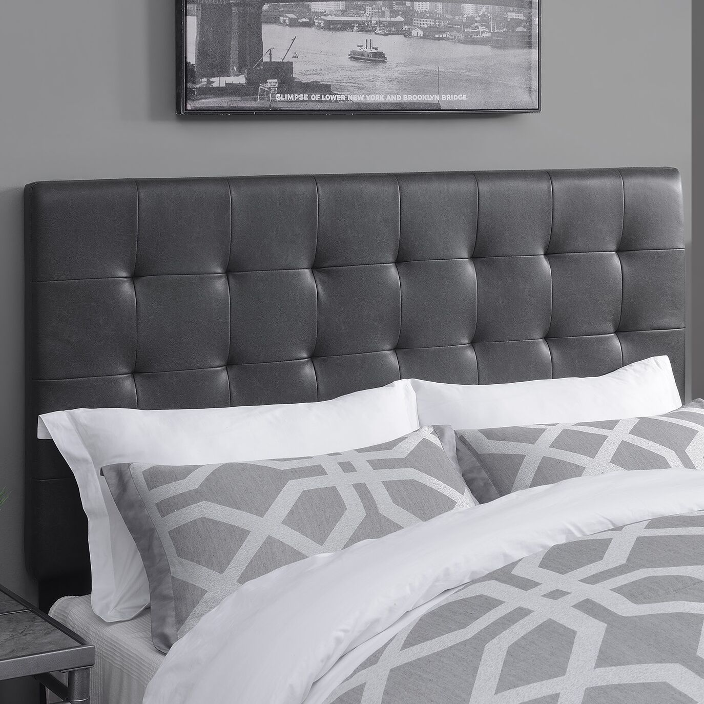 West Highland Upholstered Panel Headboard Size: King, Upholstery Color: Lummus Steel