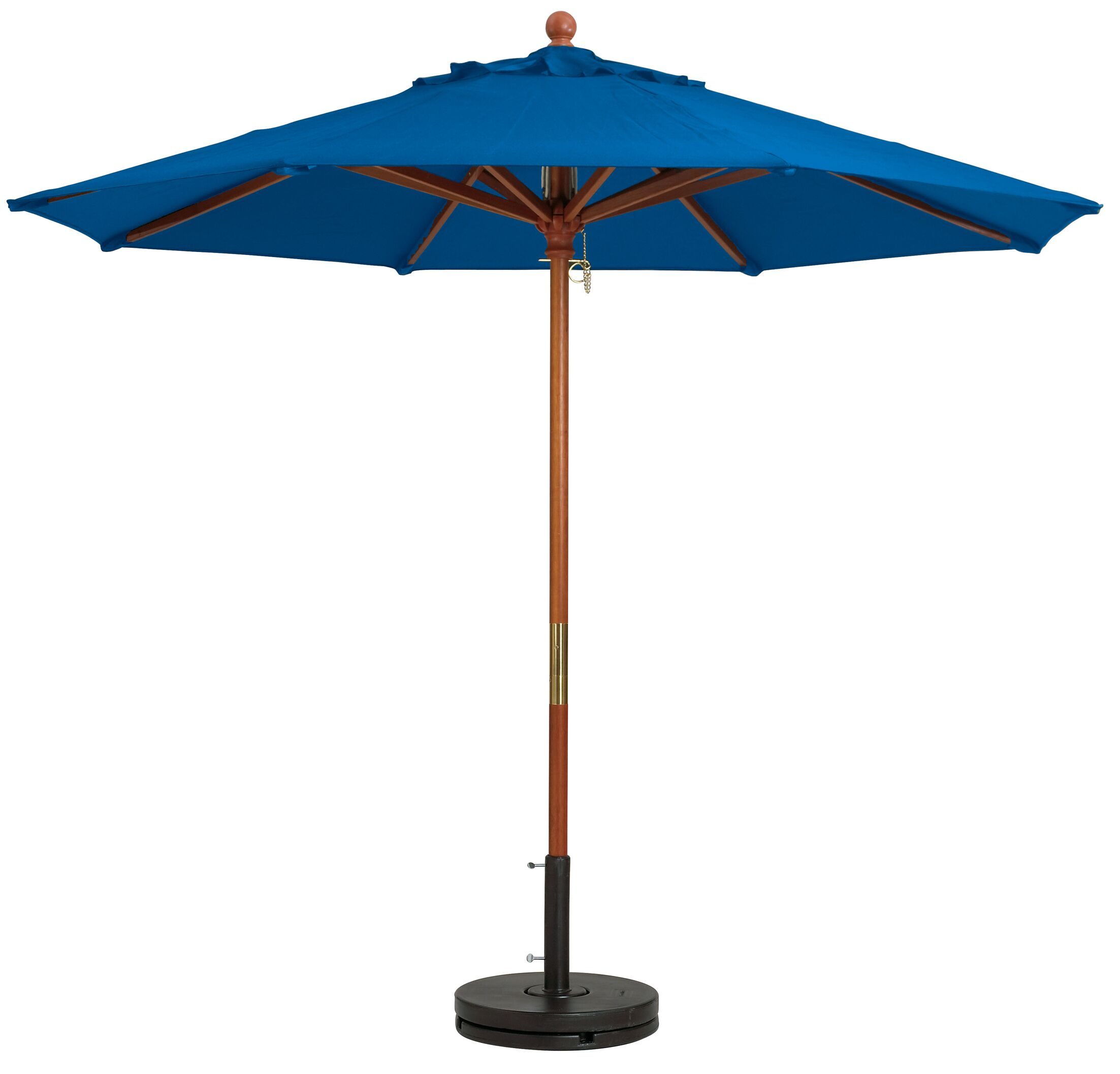 7' Market Umbrella Fabric: Pacific Blue