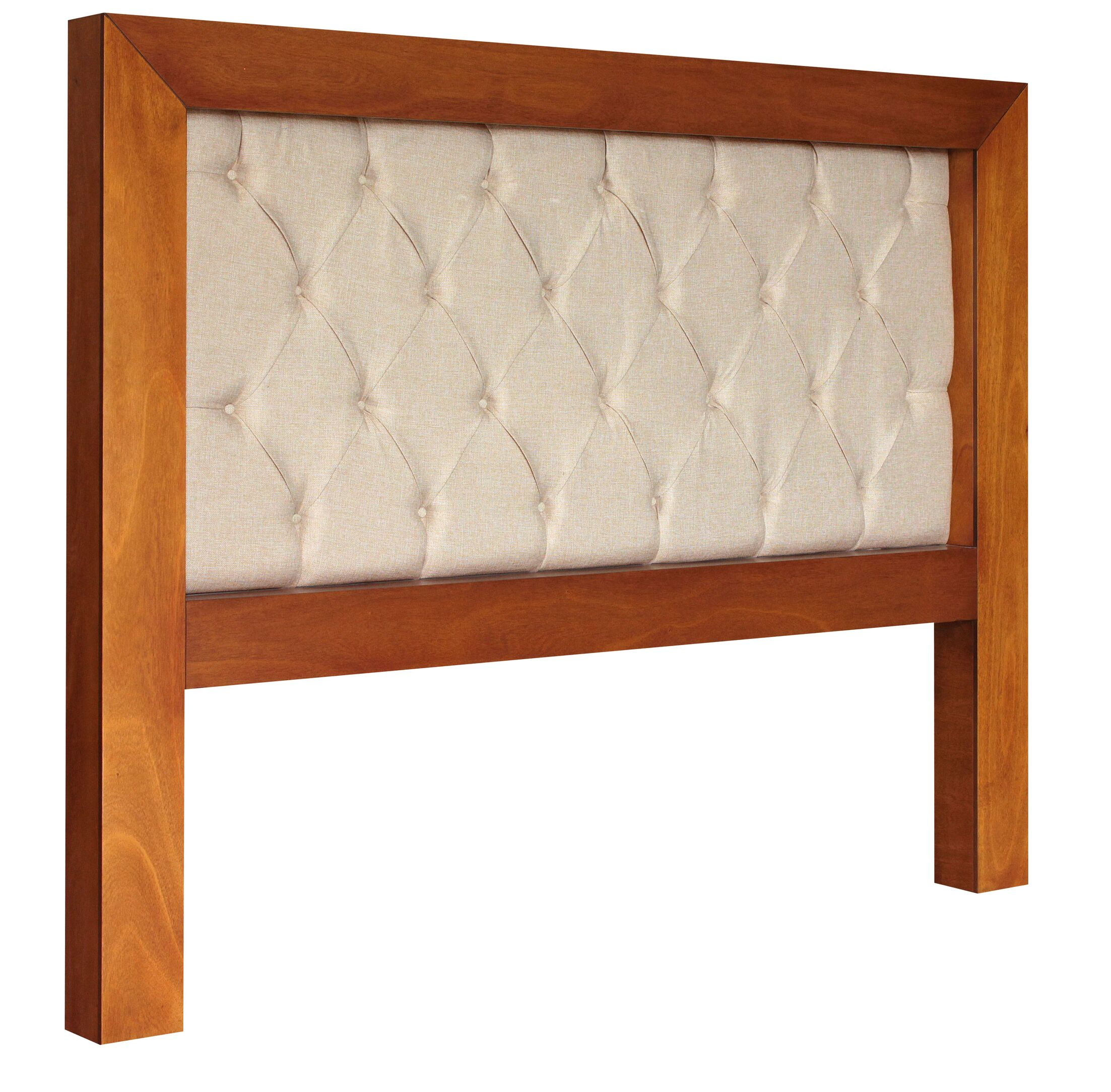 Mandir King Upholstered Panel Headboard Color: Cinnamon