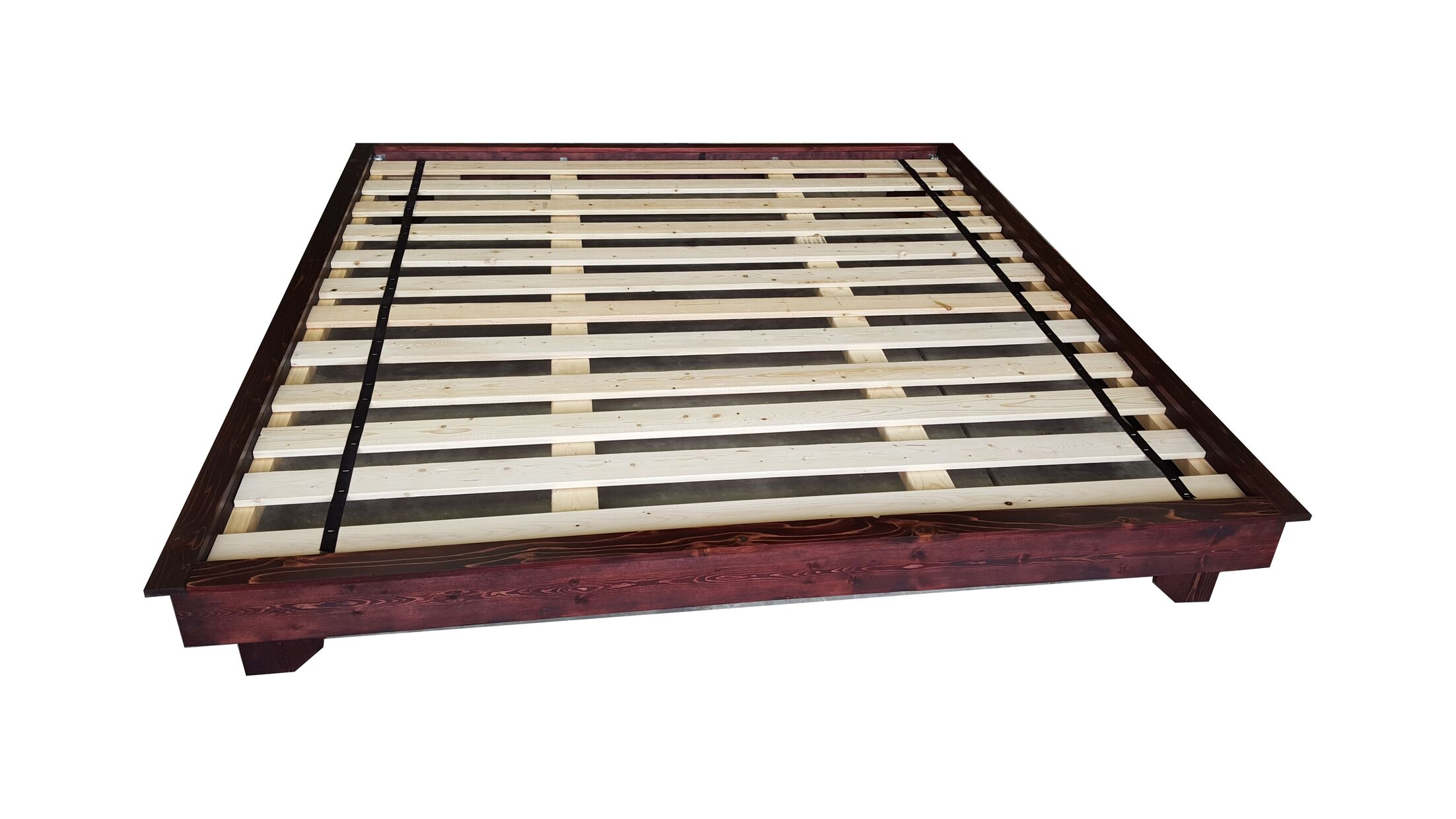 Ava Solid Wood Platform Bed Size: Full/Double, Color: Red Mahogany