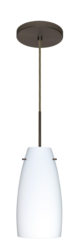 Tao 1-Light Cone Pendant Finish: Bronze, Glass Shade: Opal Matte, Bulb Type: Incandescent