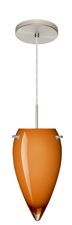 Juli 1-Light Novelty Pendant Finish: Satin Nickel, Glass Shade: Amber Glossy, Bulb Type: LED