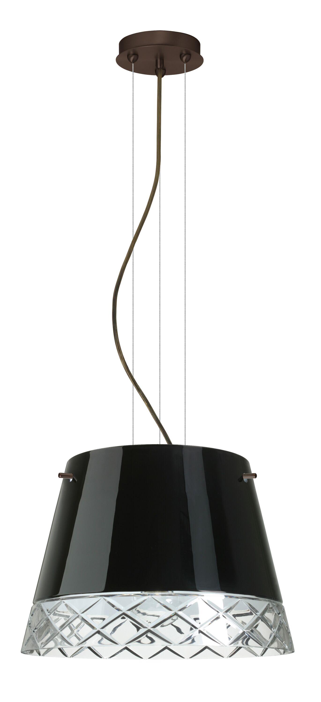 Amelia 3-Light Cone Pendant Finish: Brushed Bronze, Shade Color: Black