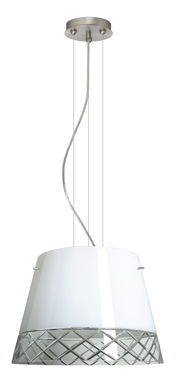 Amelia 3-Light Cone Pendant Finish: Satin Nickel, Shade Color: White