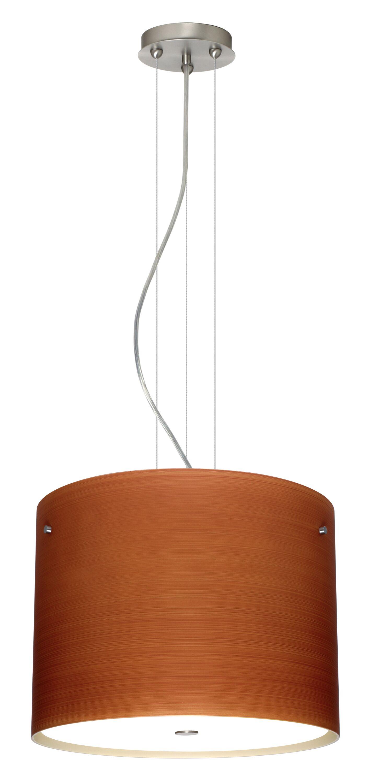 Tamburo 3-Light Drum Pendant Finish: Bronze, Glass Shade: Mosaic Onyx, Bulb Type: LED