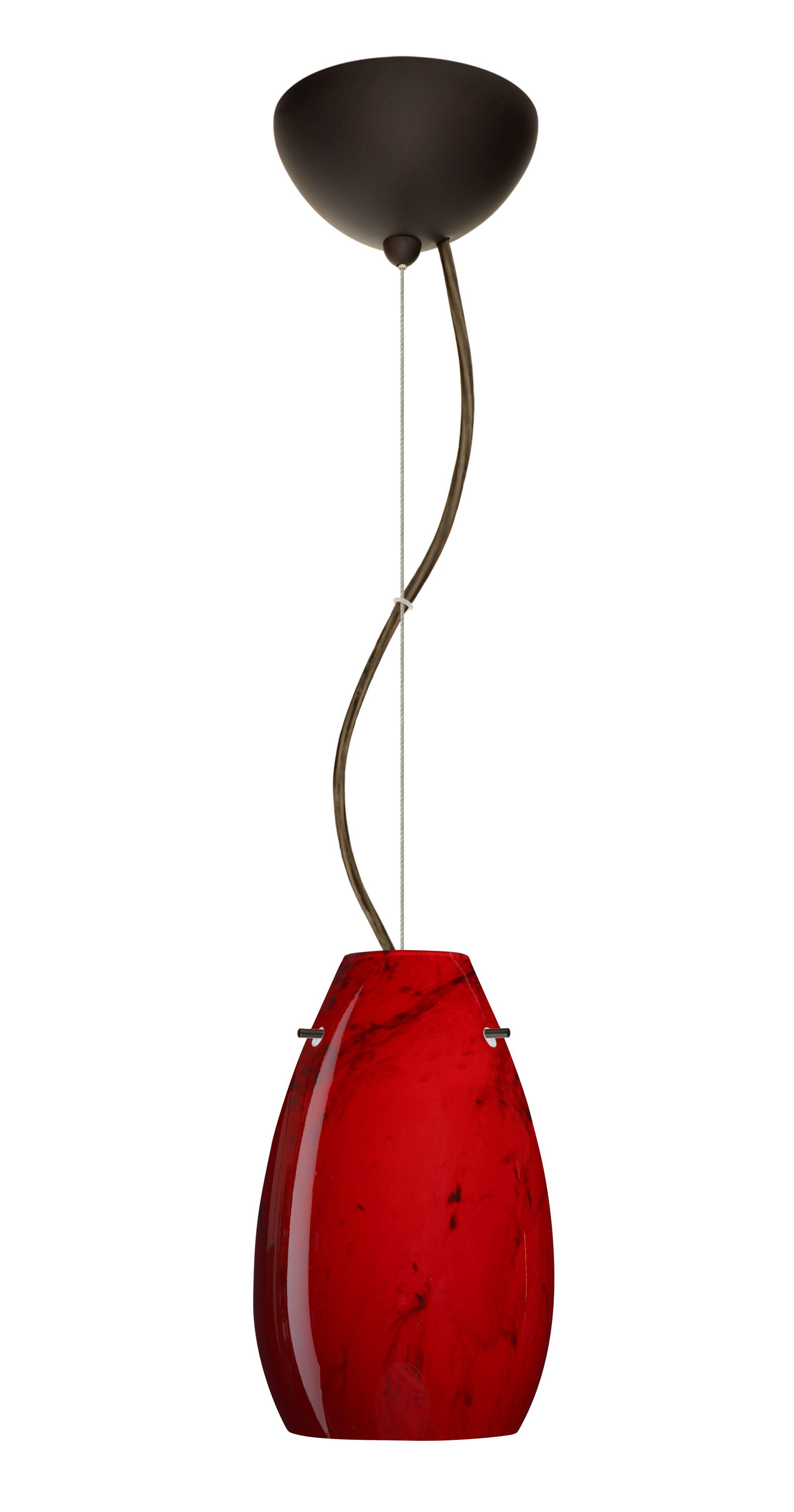 Pera 1-Light Cone Pendant Finish: Bronze, Bulb Type: LED