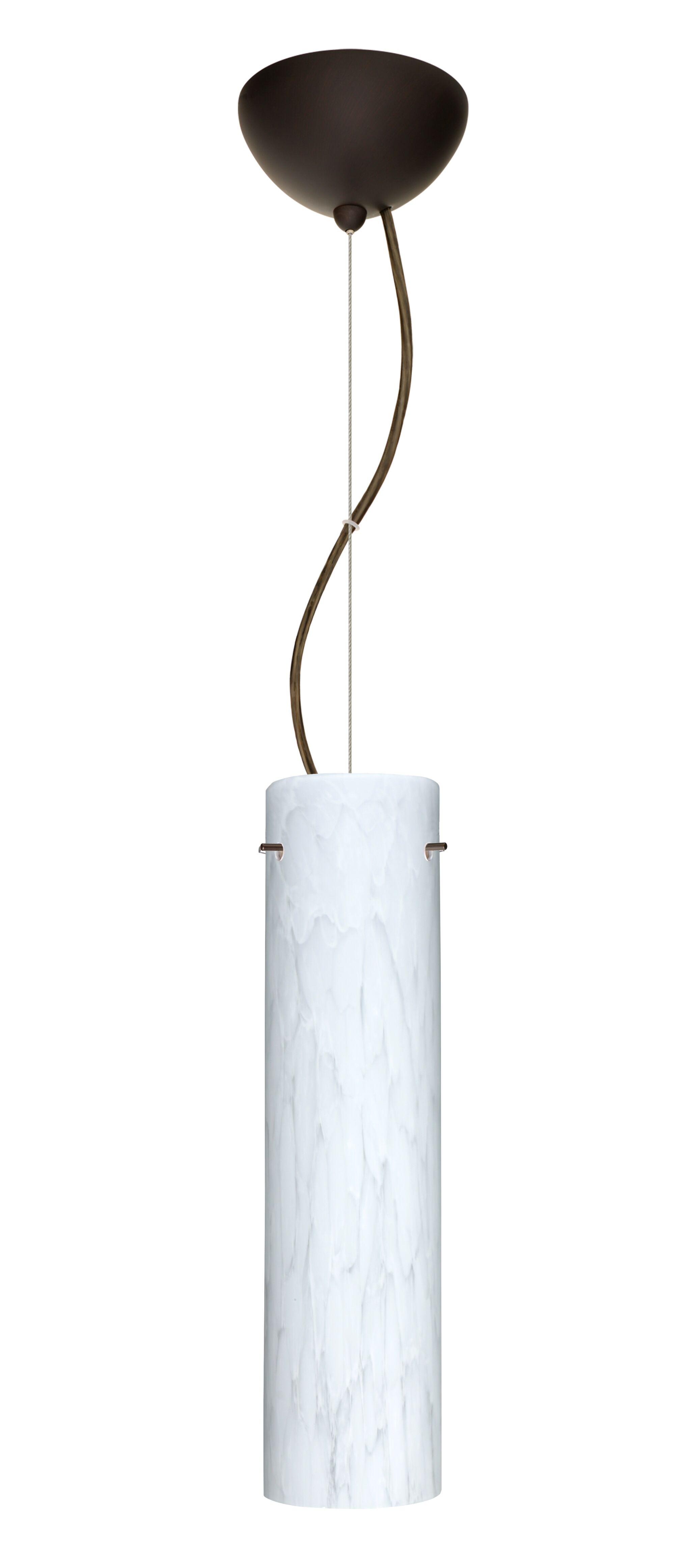 Stilo 1-Light Cylinder Pendant Finish: Bronze, Bulb Type: LED