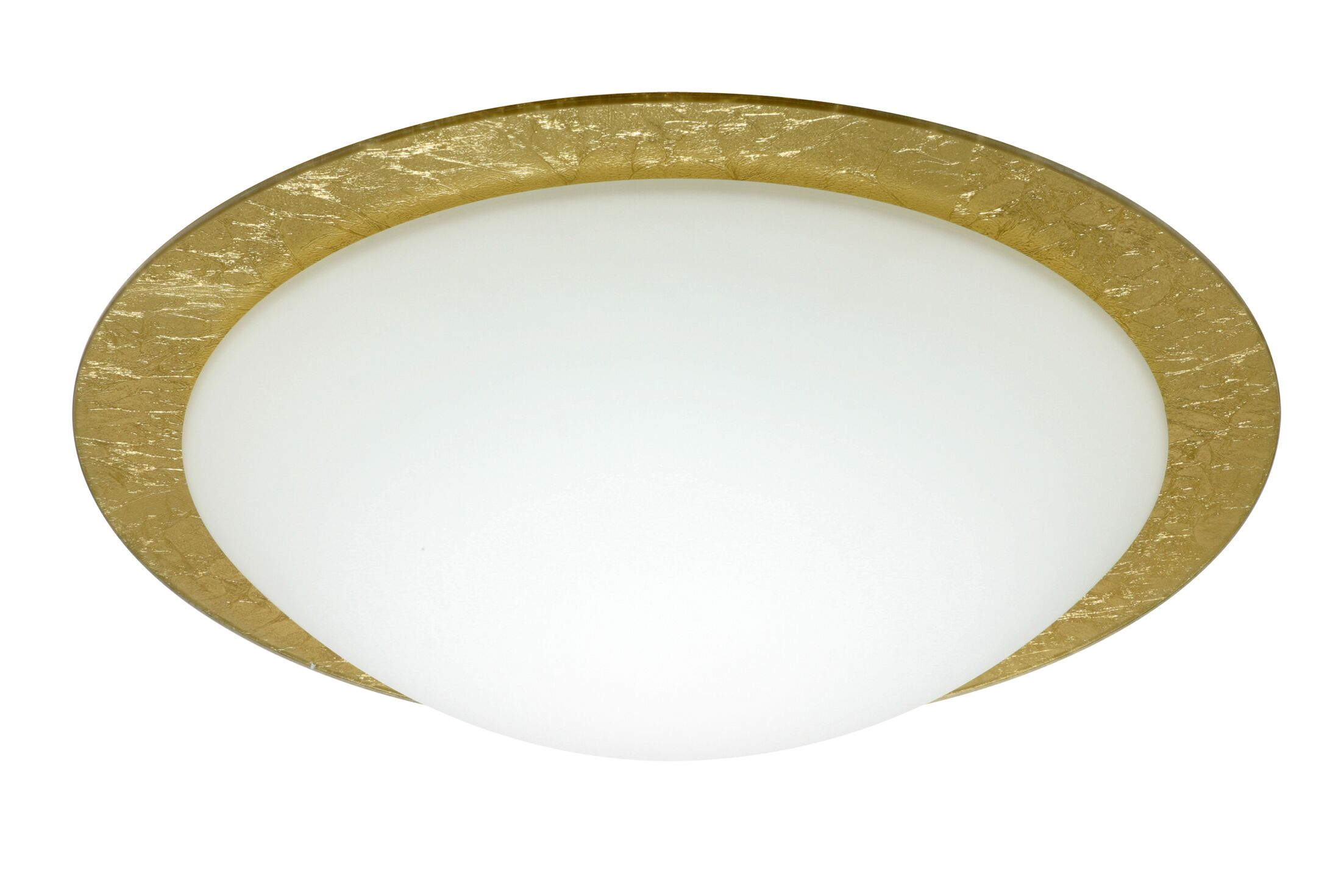 Besa Flush Mount Glass Shade: Gold Foil, Size: 5.25