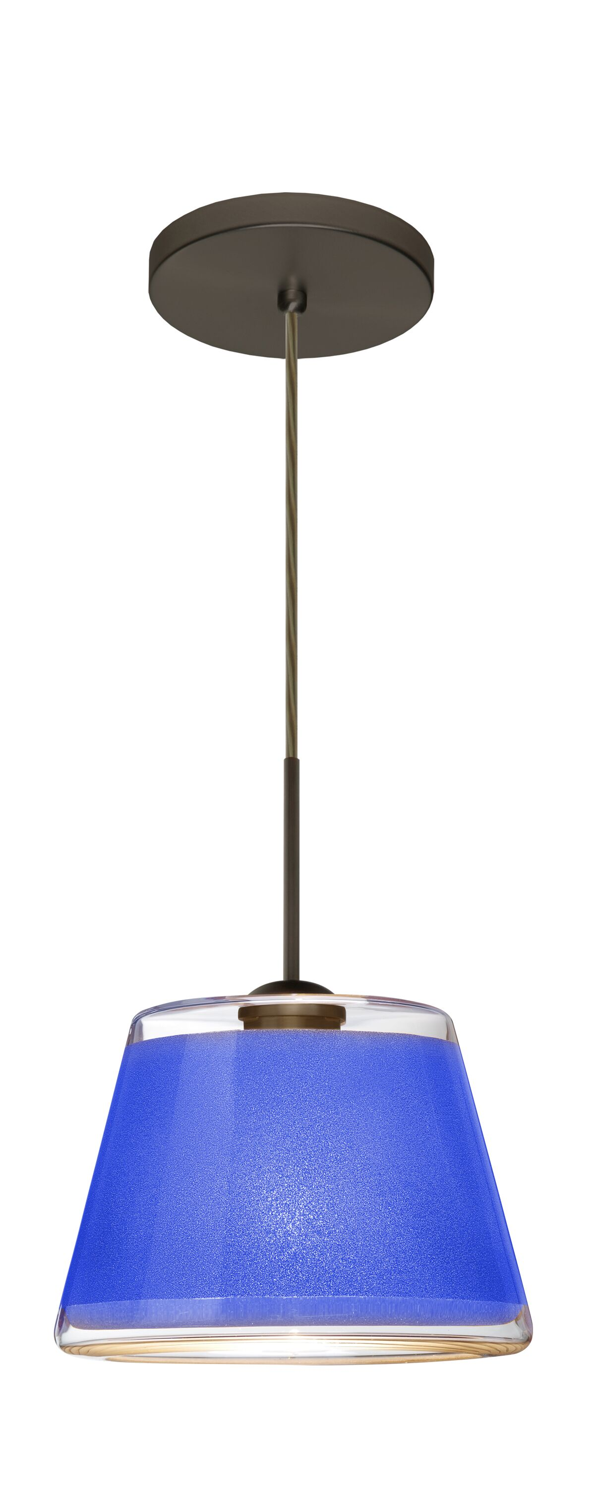 Pica 1-Light Cone Pendant Finish: Brushed Bronze, Shade Color: Blue