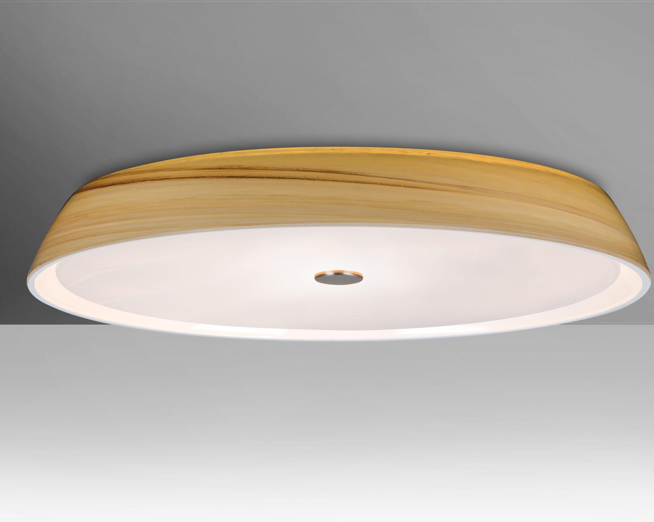 Speier 3-Light Flush Mount Shade Color: Cream, Bulb Type: Halogen
