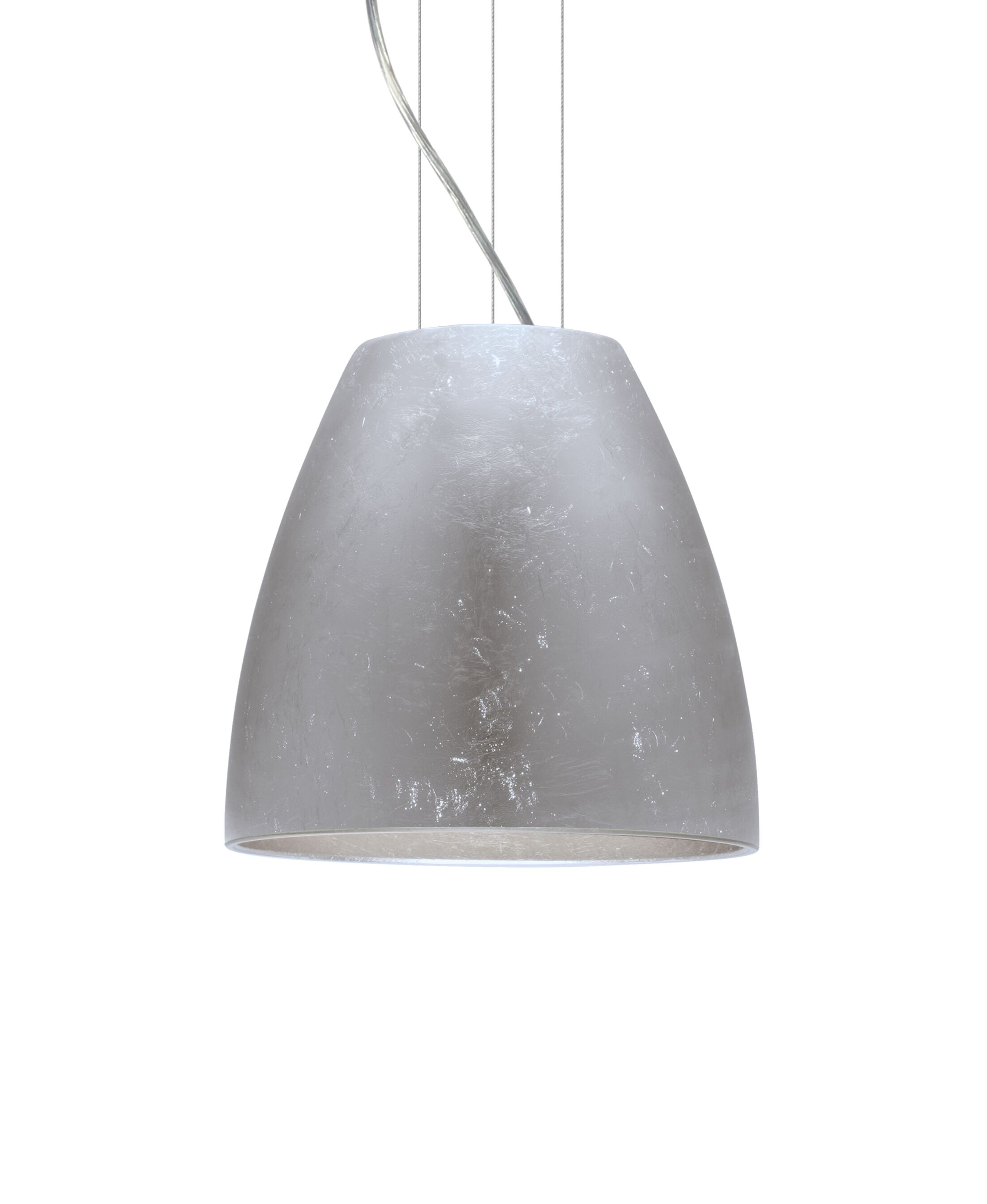 Bella 1-Light Cone Pendant Finish: Satin Nickel, Size: 12.75