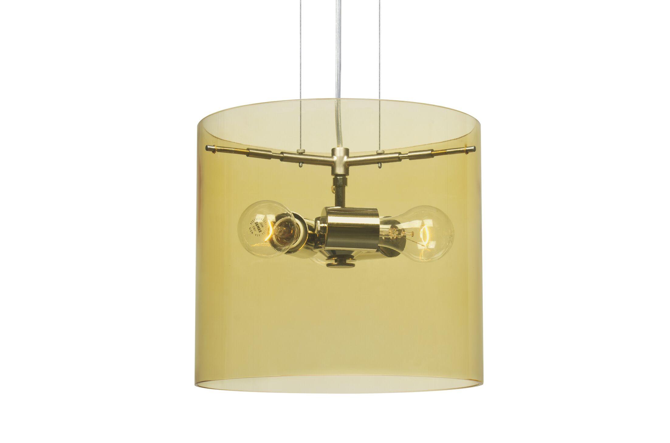 Pahu 3-Light Mini Pendant Finish: Satin Nickel, Size: 10.63