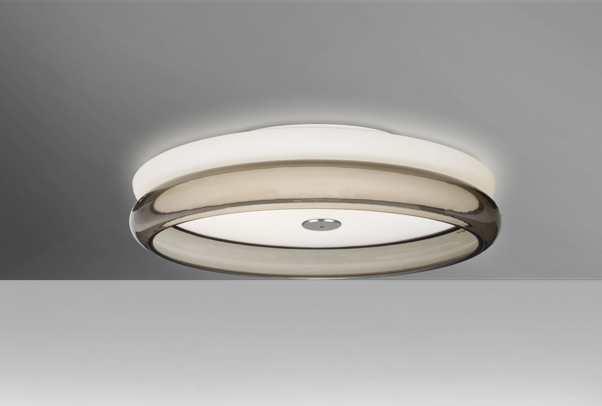 Arvilla 2-Light Flush Mount Shade Color: Smoke, Bulb Type: Halogen