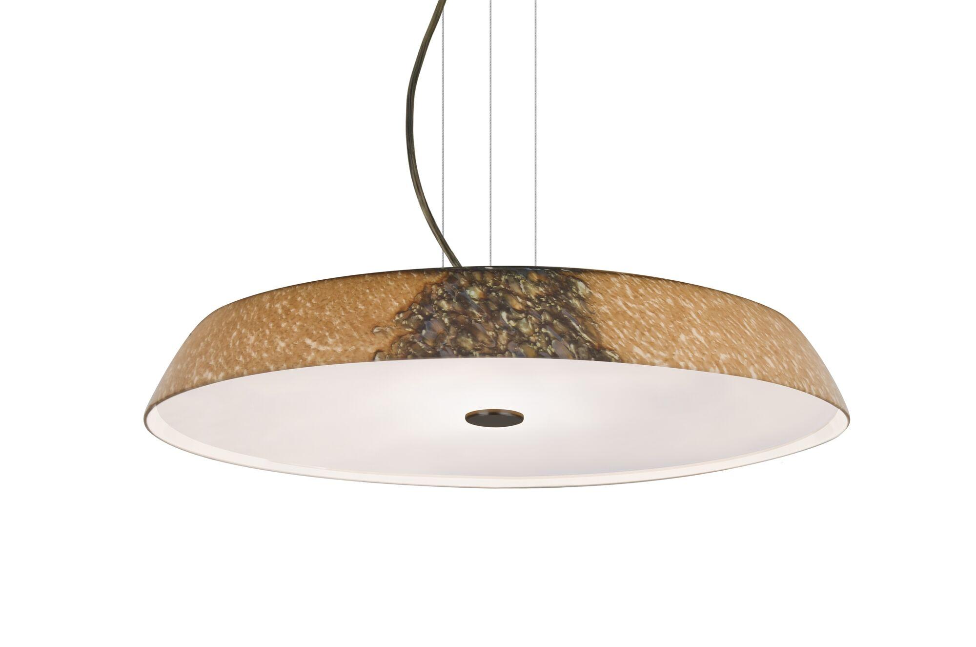 Speier Round Suspension 1-Light  LED  Pendant Finish: Bronze
