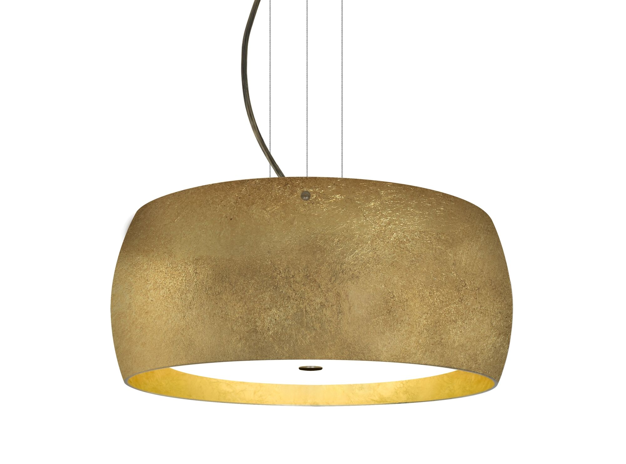 Speidel 3-Light Pendant Base Finish: Bronze, Shade Color: Gold
