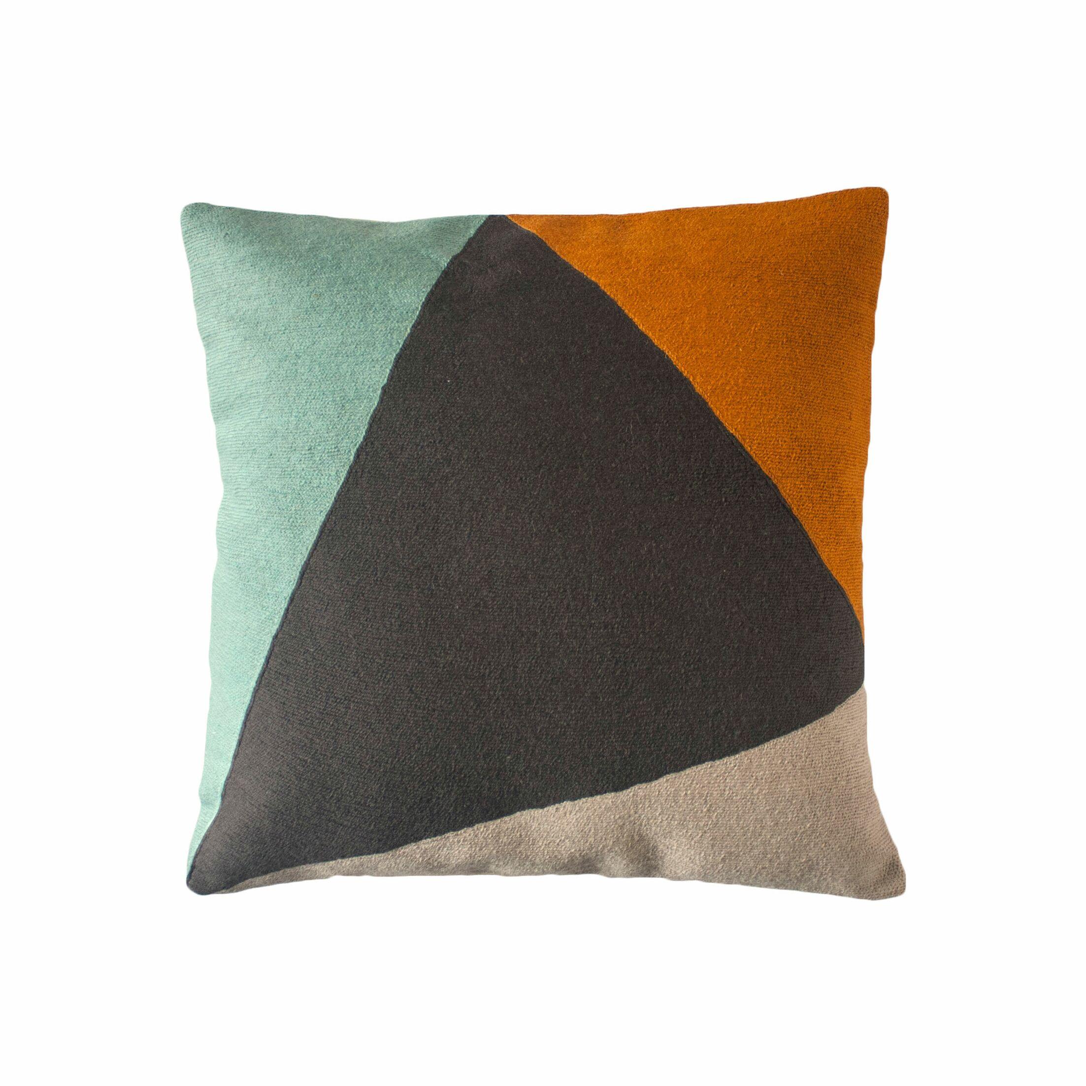 Khalid Colorblock Throw Pillow