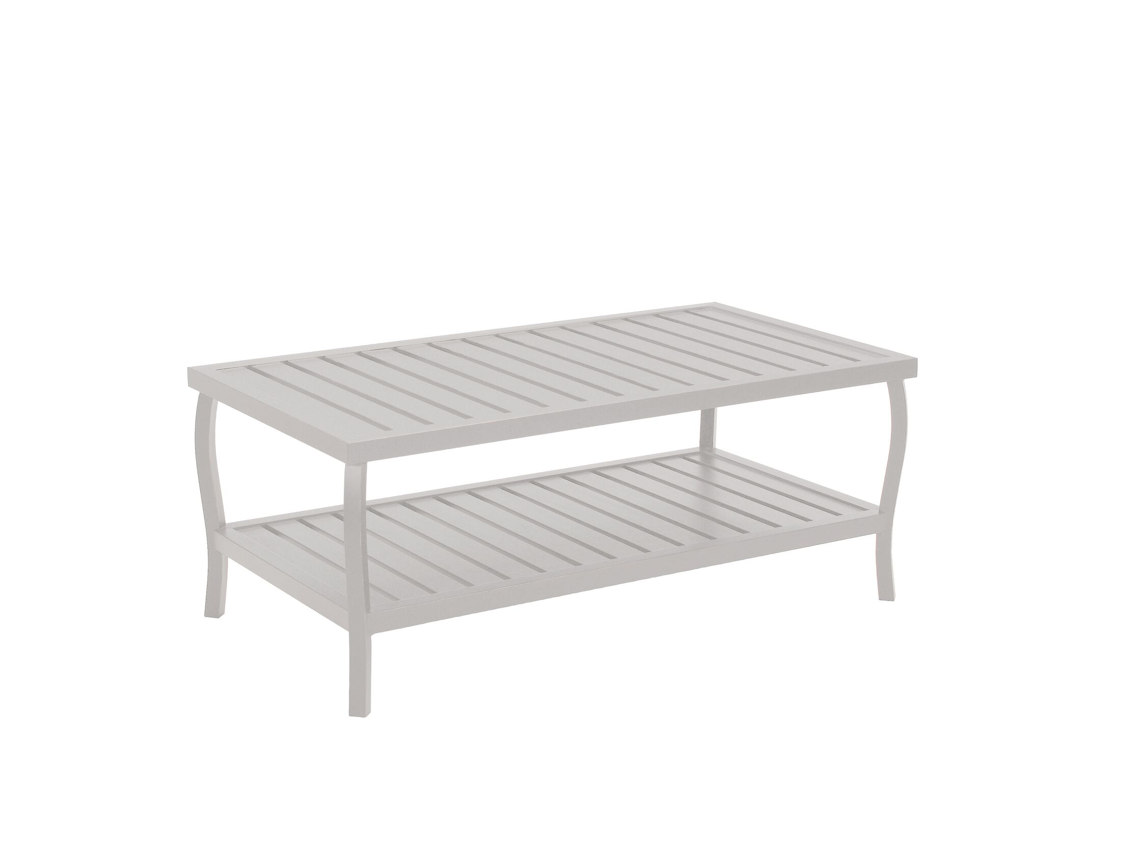 Cottage Rectangular Wrought Aluminum Coffee Table Color: French Linen