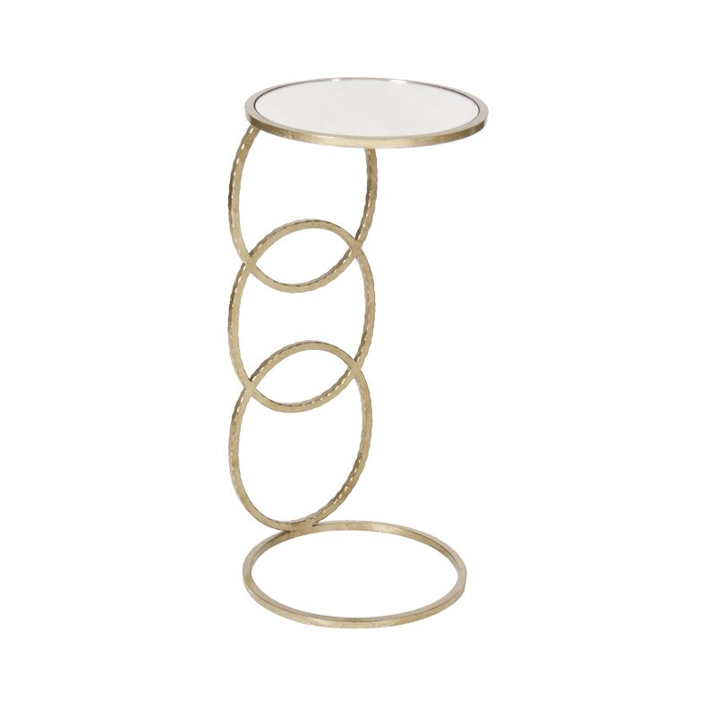 3 Ring Hammered Cigar C Table Color: Silver