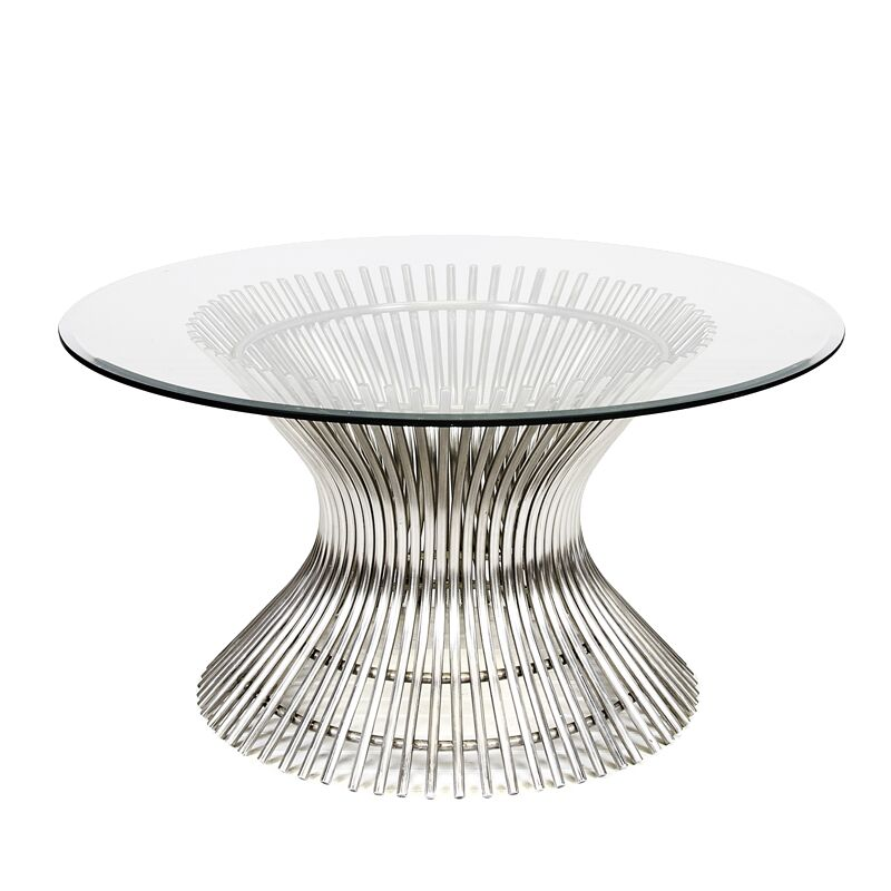 Coffee Table Base Color: Polished Stainless, Size: 18