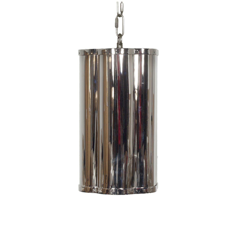 Clover 1-Light Cylinder Pendant Finish: Nickel