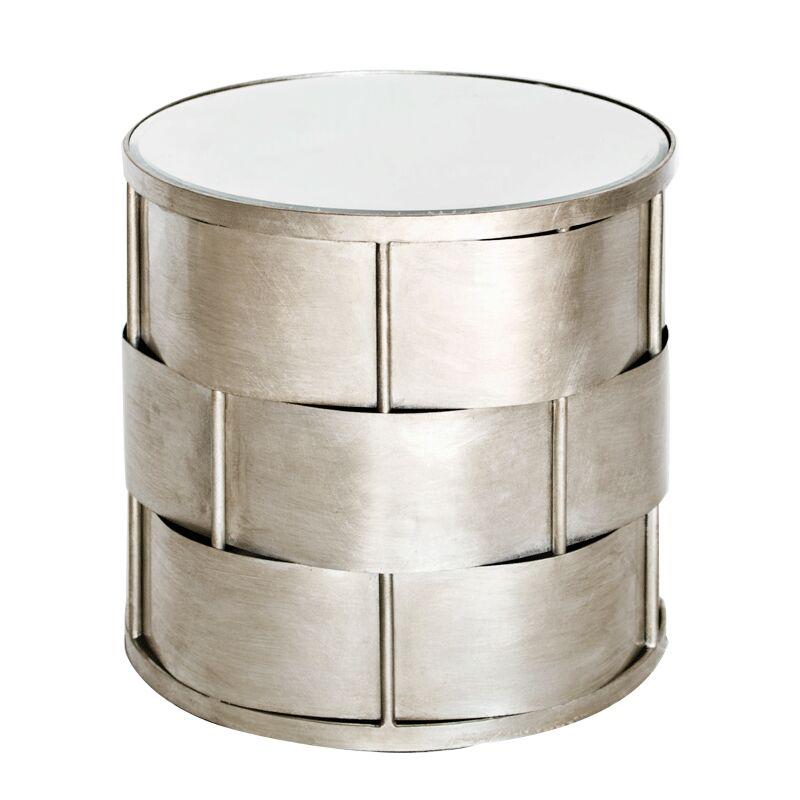 Basketweave End Table Color: Silver
