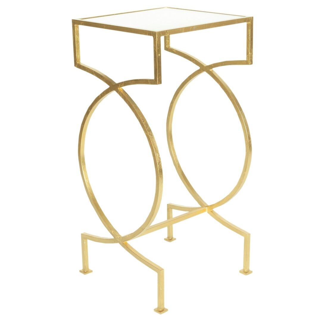 Iron End Table Color: Gold