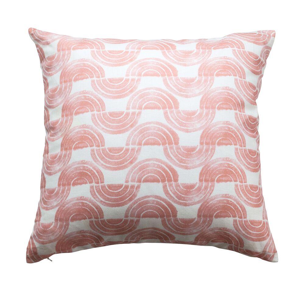 Serpentine Waves Throw Pillow Color: Soft Peach