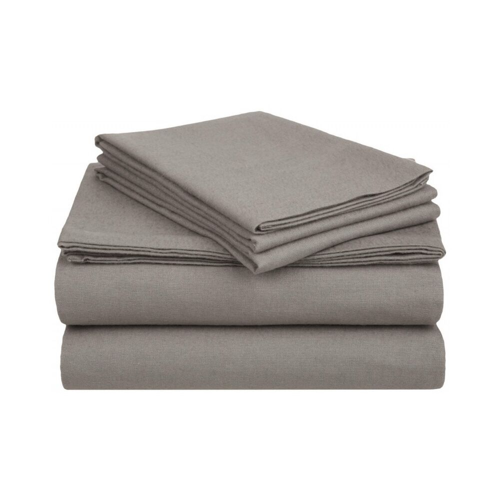 Ponte 100% Cotton Sheet Set Color: Gray, Size: King