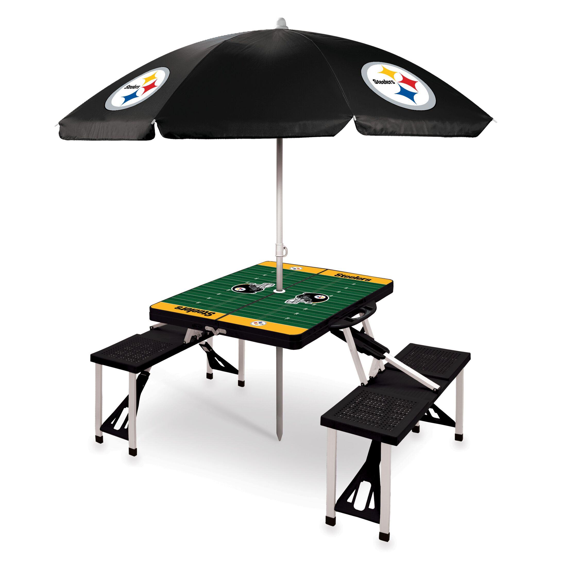 Picnic Table NFL Team: Pittsburgh Steelers/black