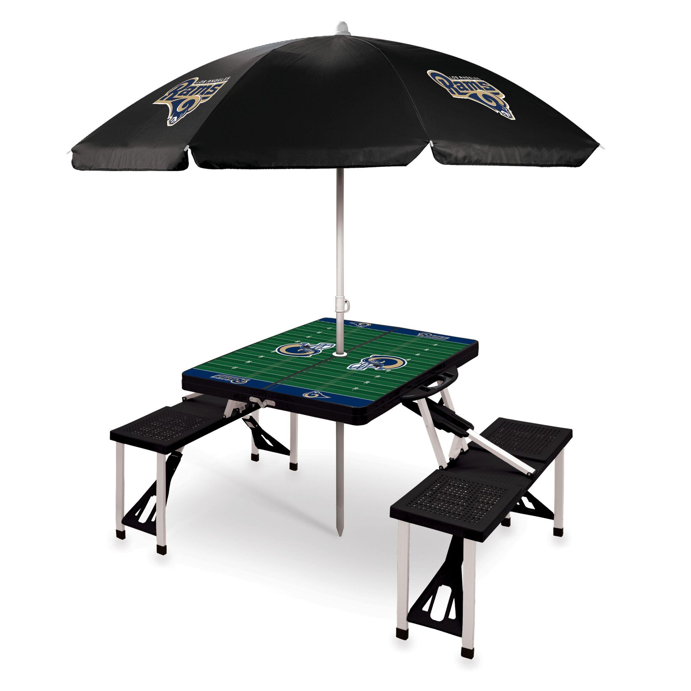 Picnic Table NFL Team: Los Angeles Rams/Black