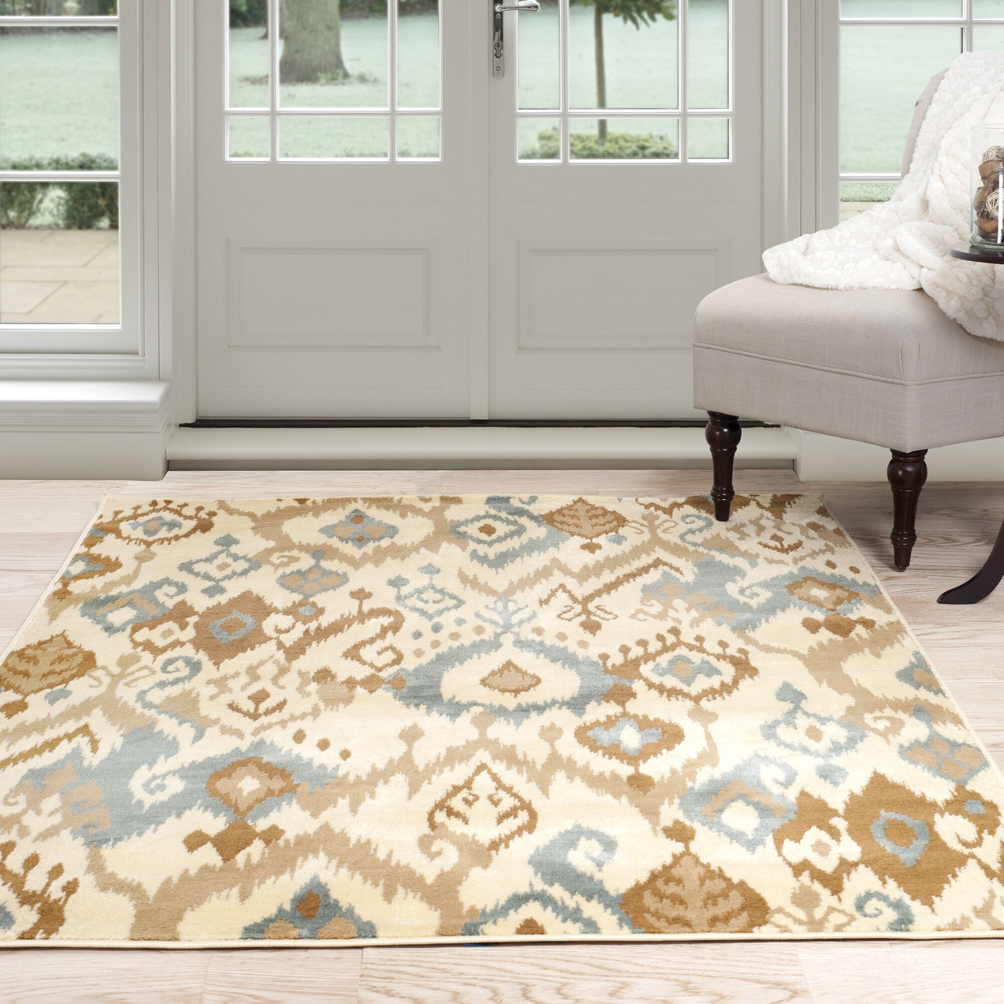 Beige/Brown Area Rug Rug Size: Rectangle 5' x 7'7