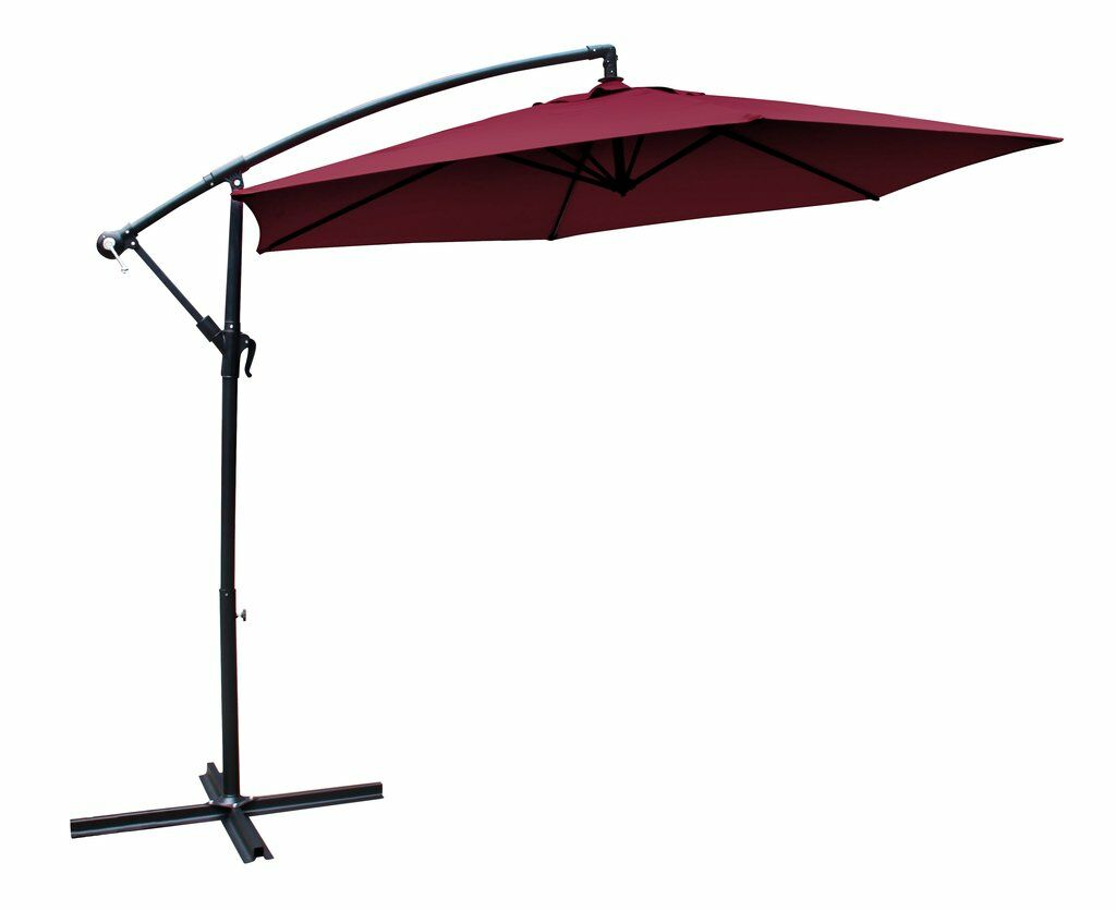 10' Cantilever Umbrella Fabric Color: Crimson