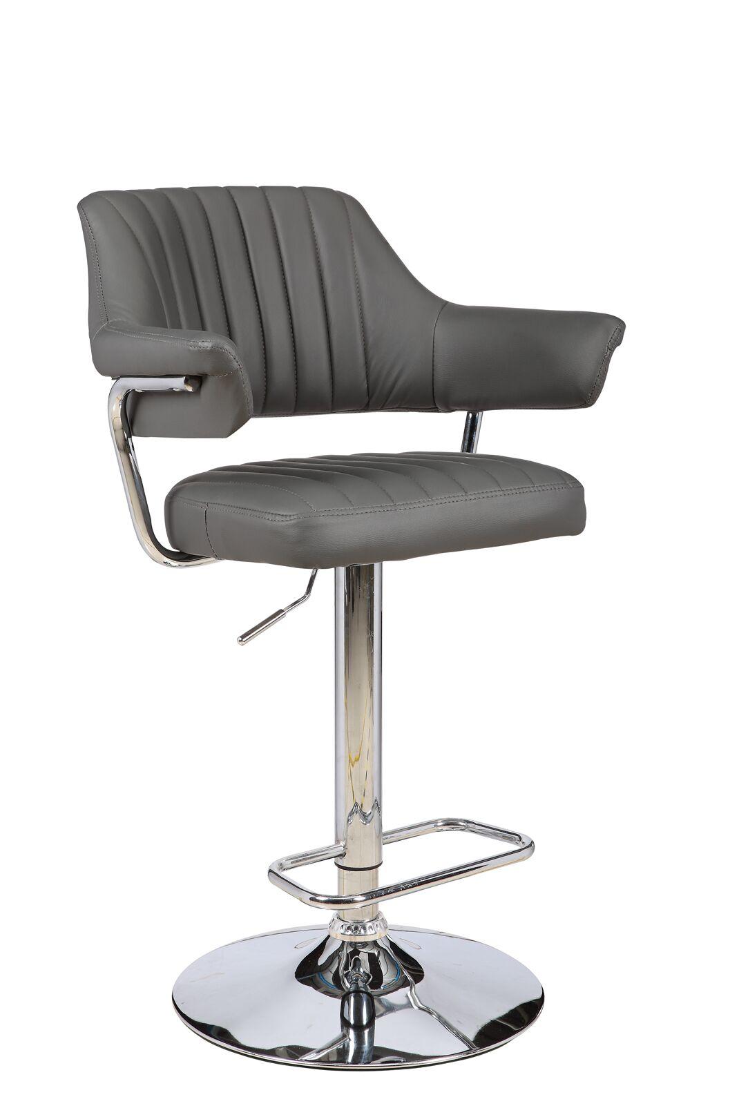 Castlethorpe Series Adjustable Height Swivel Bar Stool Upholstery: Gray