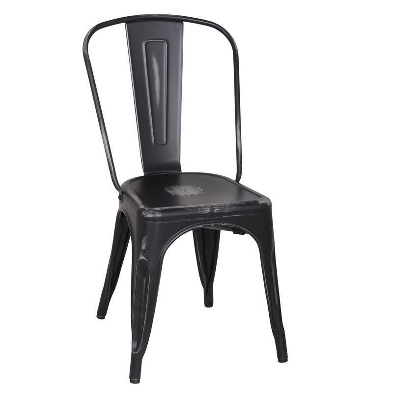 Metal Stacking Side Chair Finish: Black